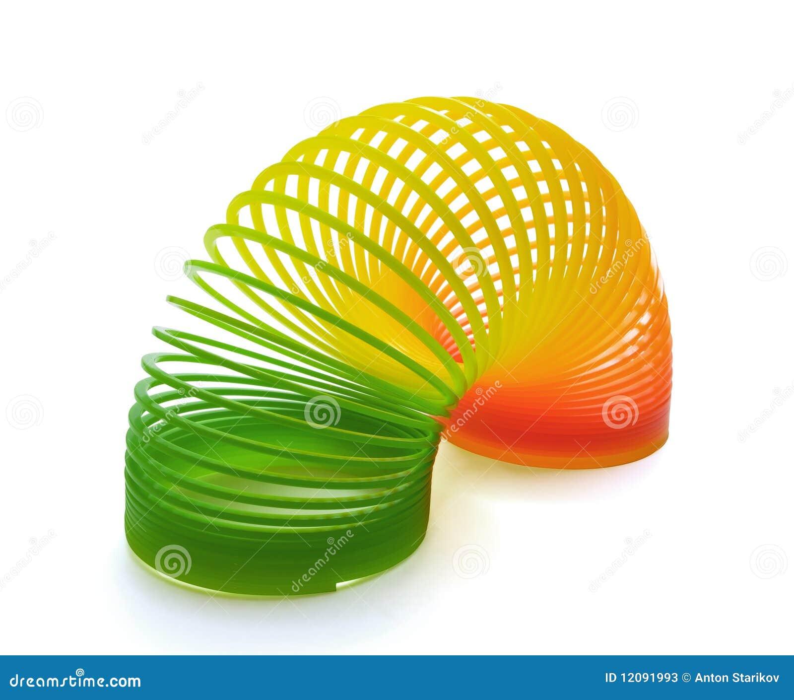 Juguete del resorte imagen de archivo imagen de rainbow for Juguetes de plastico