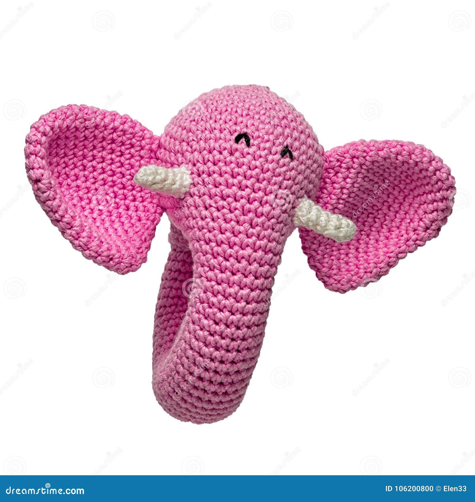 Elefante Cor De Rosa Amigurumi Crochê Maternidade Decoração - R ... | 1390x1300
