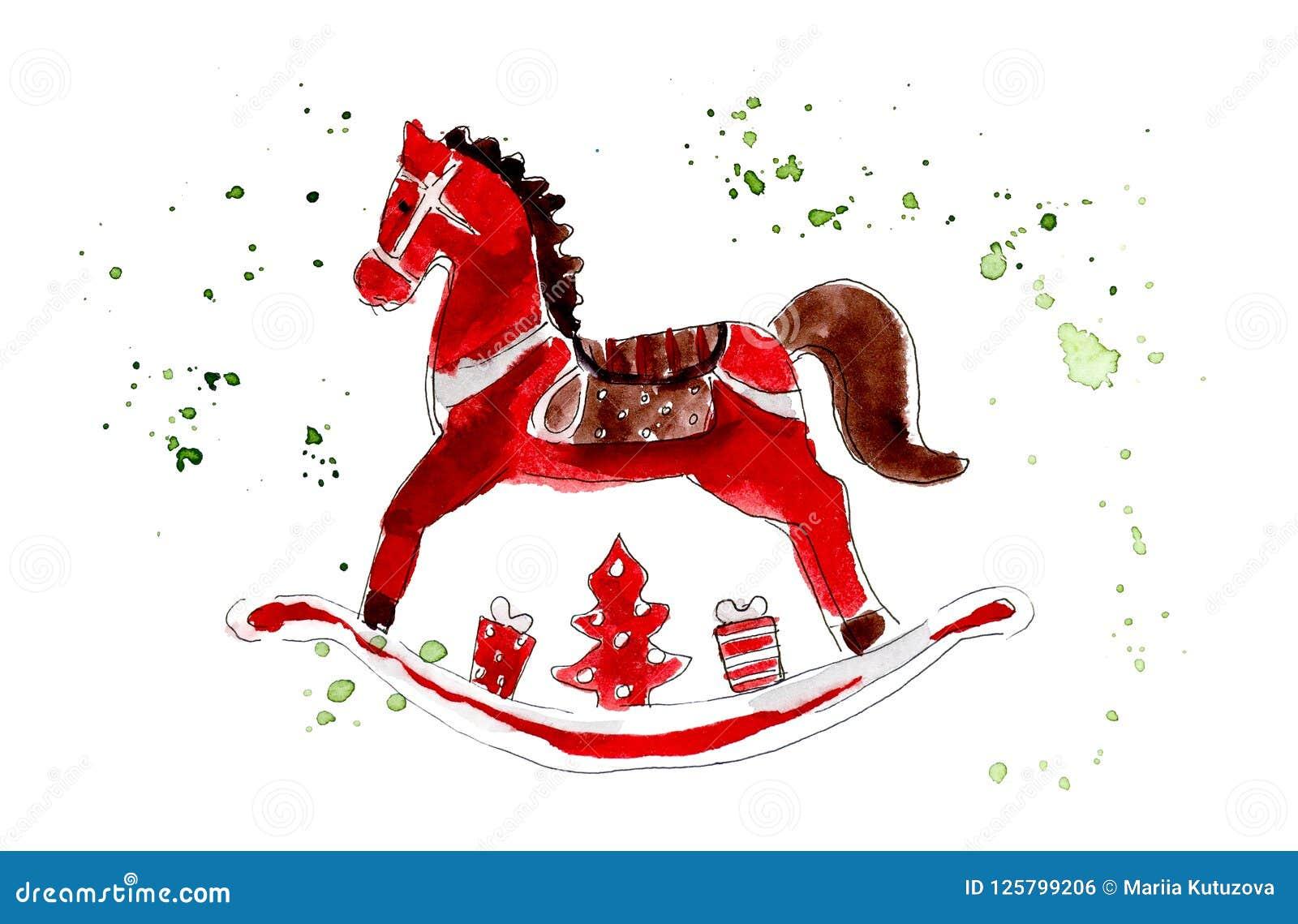 Dibujo Zvusmpqg Caballo Ejemplo Navidad La Rojo Madera Juguetes Del De htrCdsQ