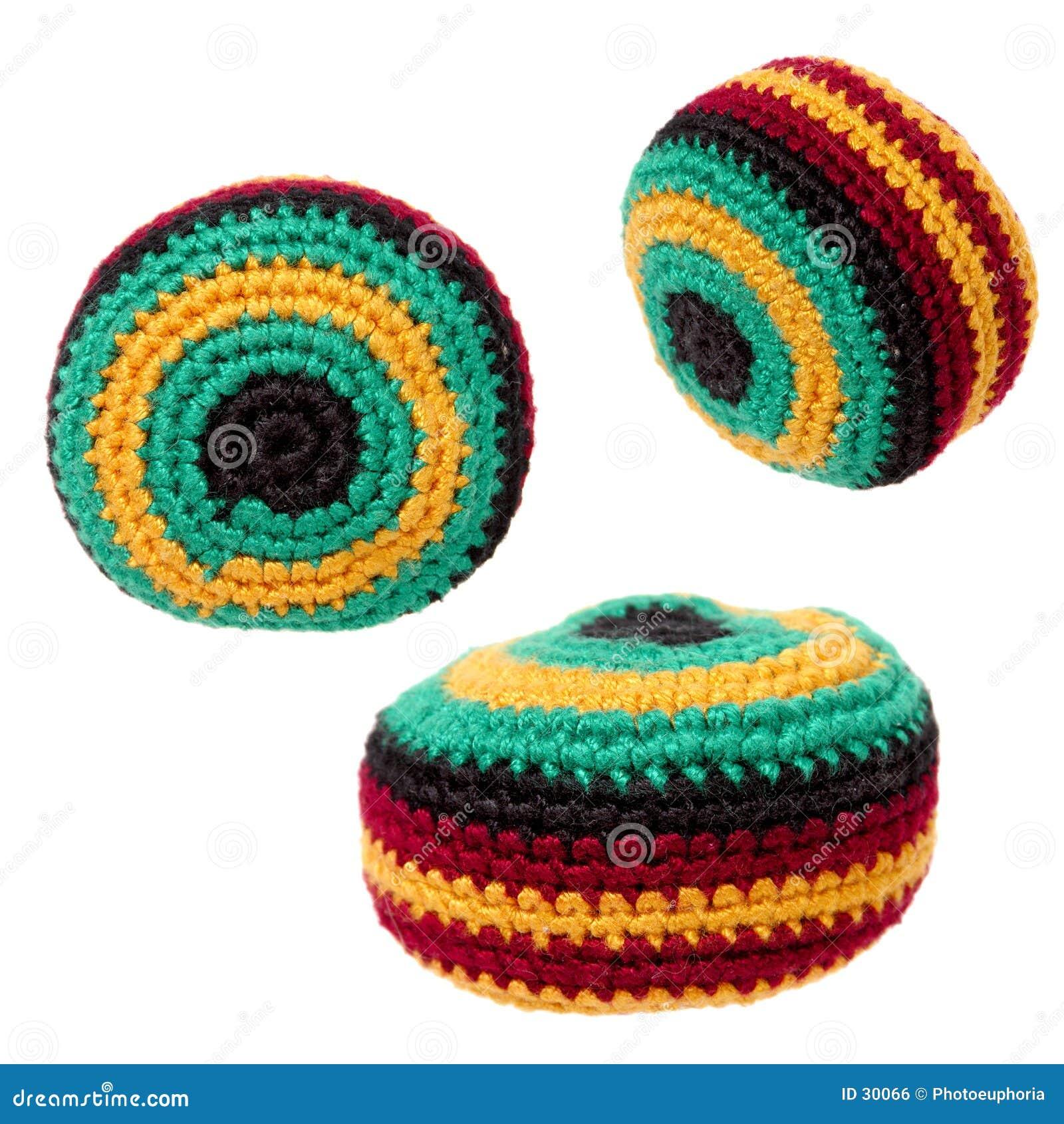 Download Juguetes: Saco De Hacky O Trío De Footbag Foto de archivo - Imagen de retroceso, knit: 30066
