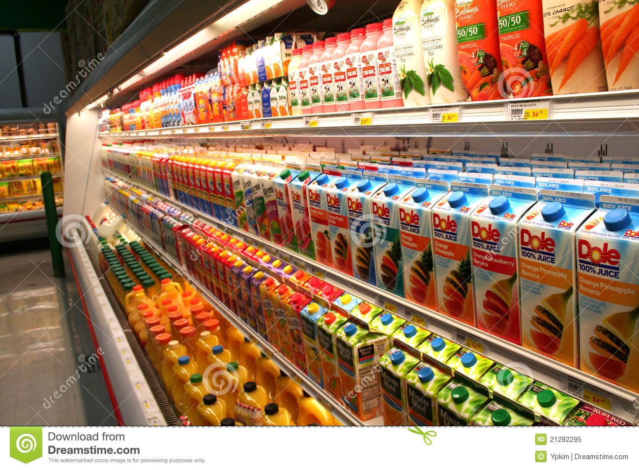 Grocery Store Juice Aisle