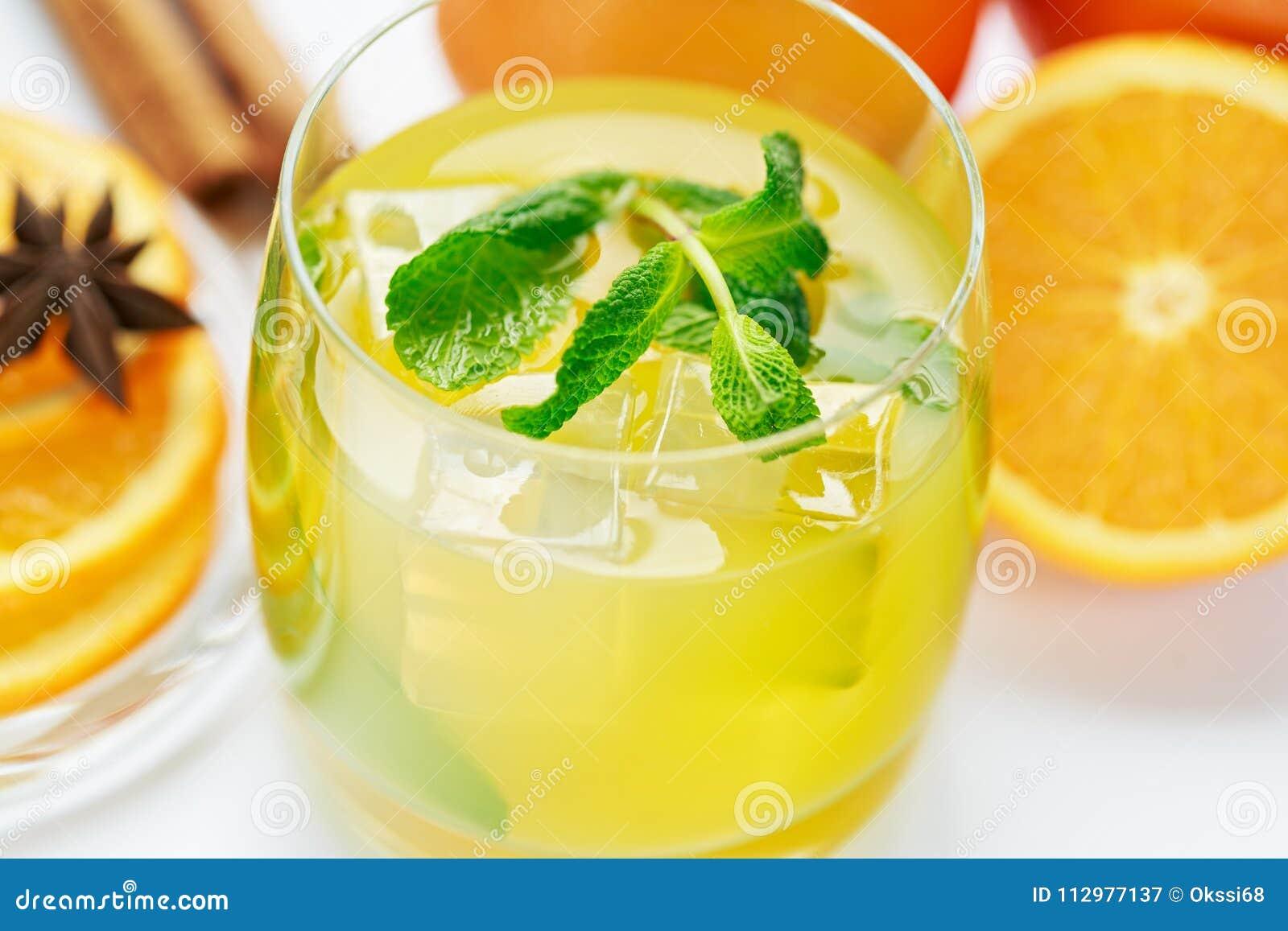 Juice from fresh oranges
