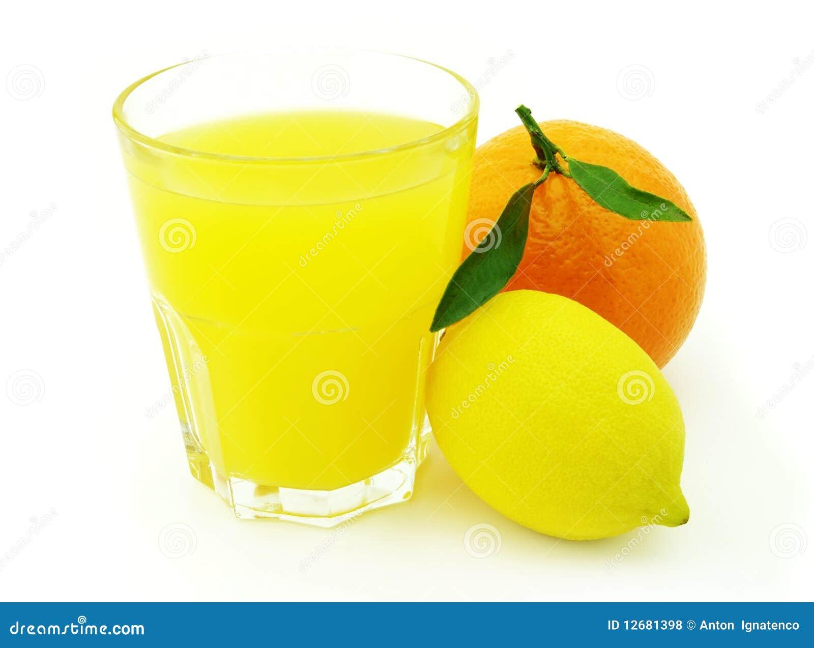 Orange Lemon Juicers ~ Juice with lemon and orange stock photo image