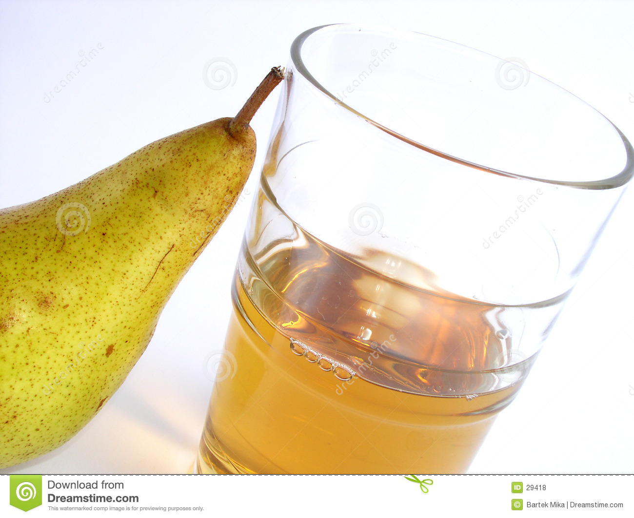 Juice and pear