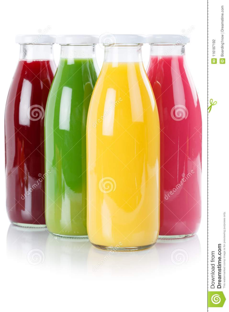 Juice smoothie fruit smoothies in bottle portrait format isolate