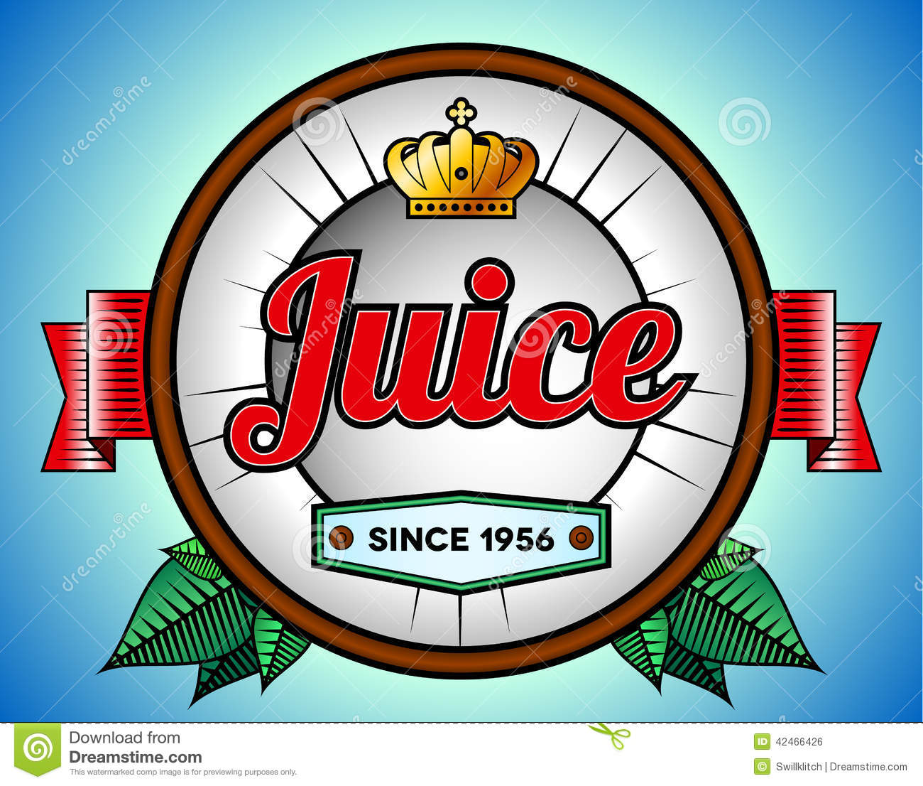 juice or soda label stock vector illustration of business 42466426