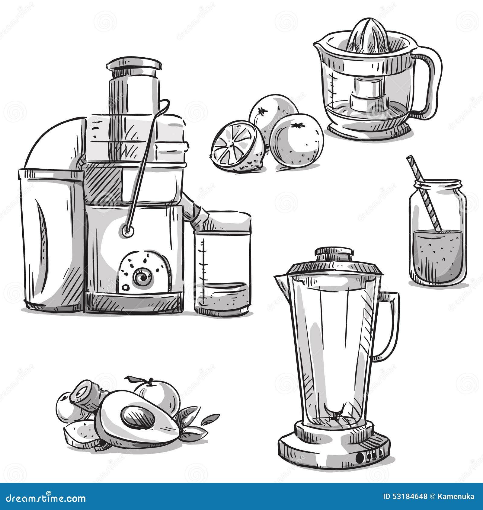 Line Art Juice : Juicers juicing machines blender healthy diet stock