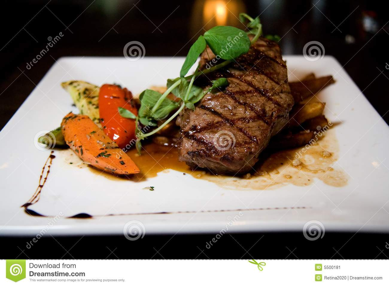 Juicy Angus Steak Stock Image Image 5500181