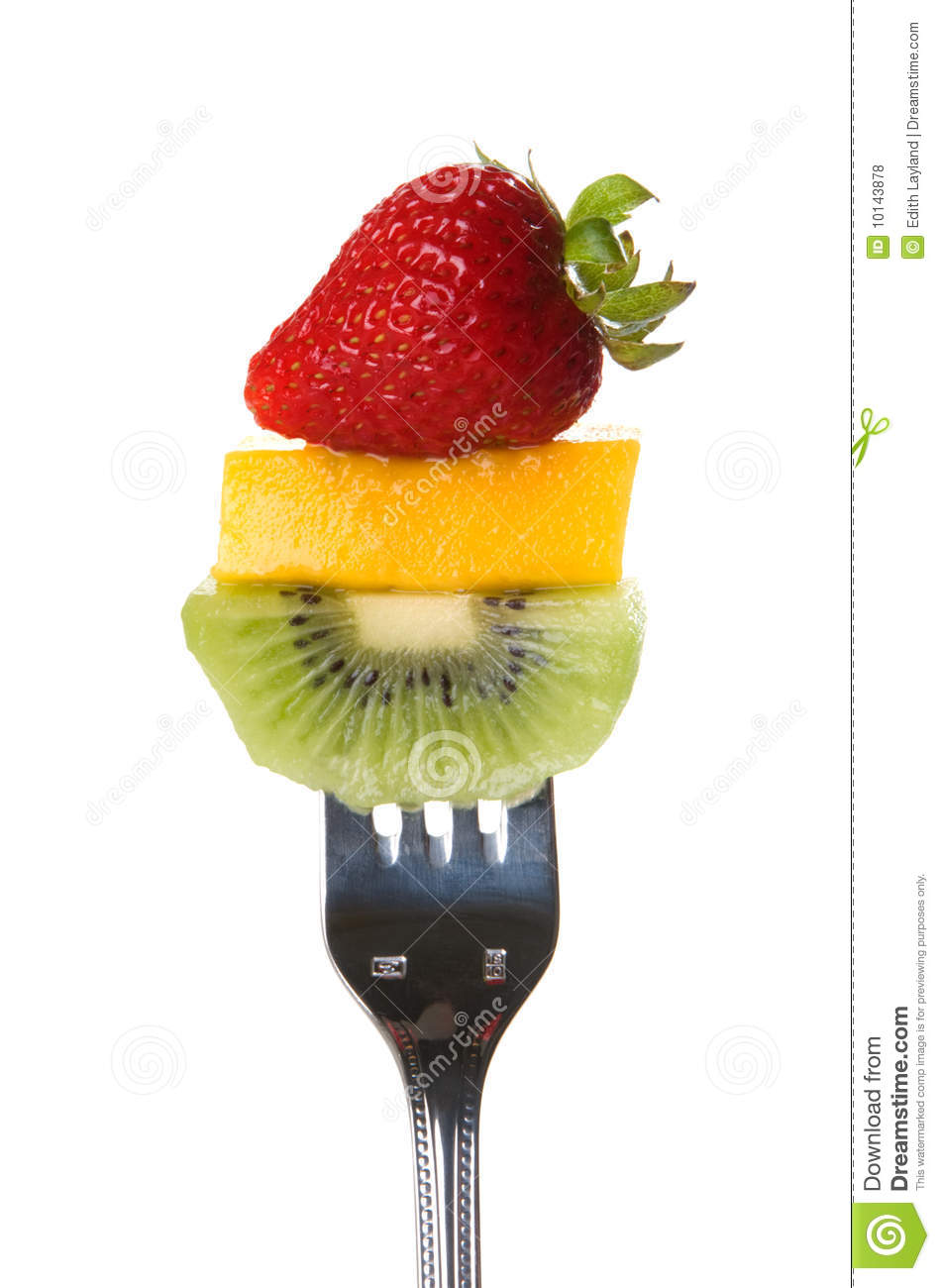 Juicy Fresh Fruit On A Fork Royalty Free Stock Photos ...