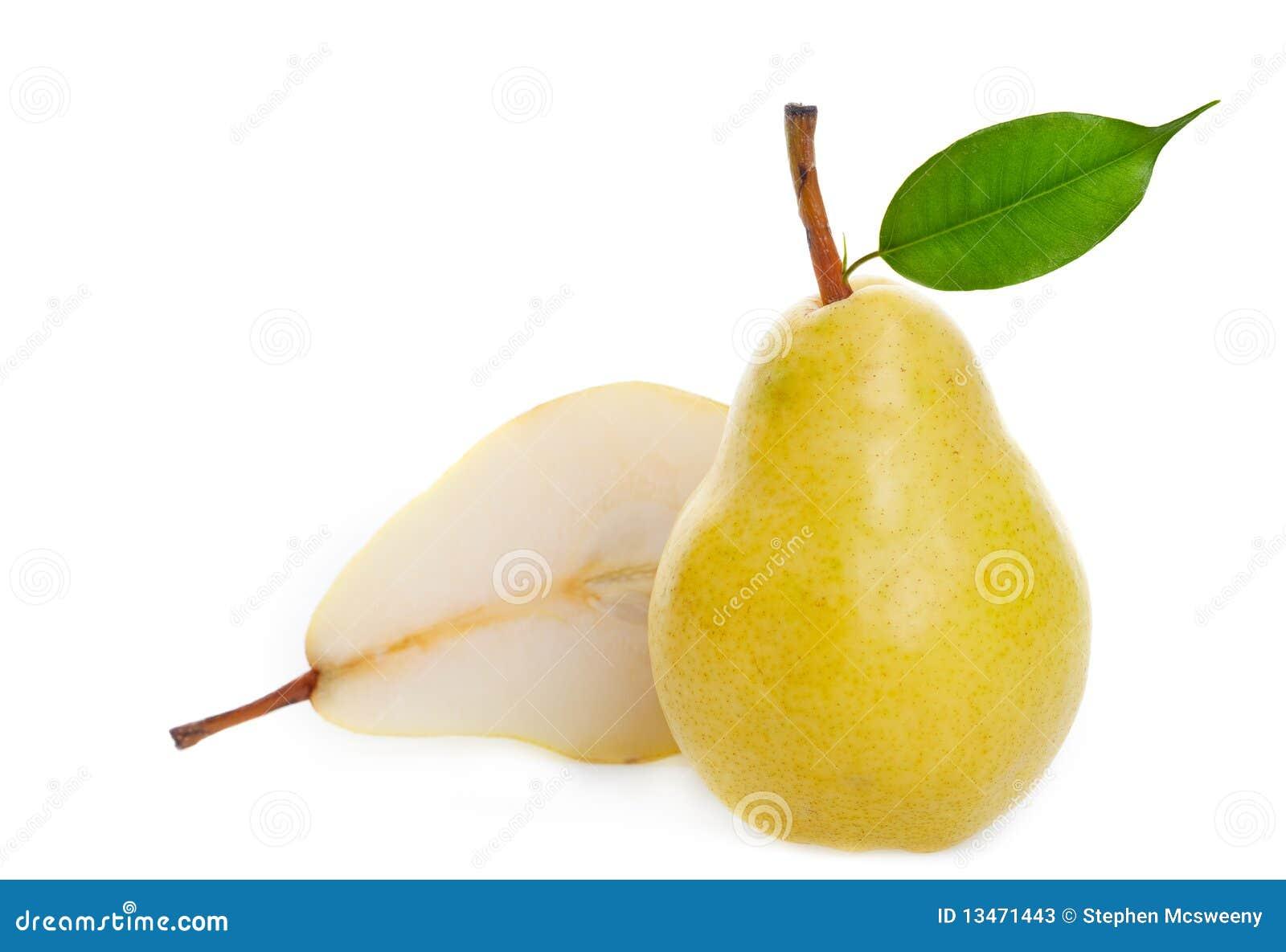 Juicy golden pear