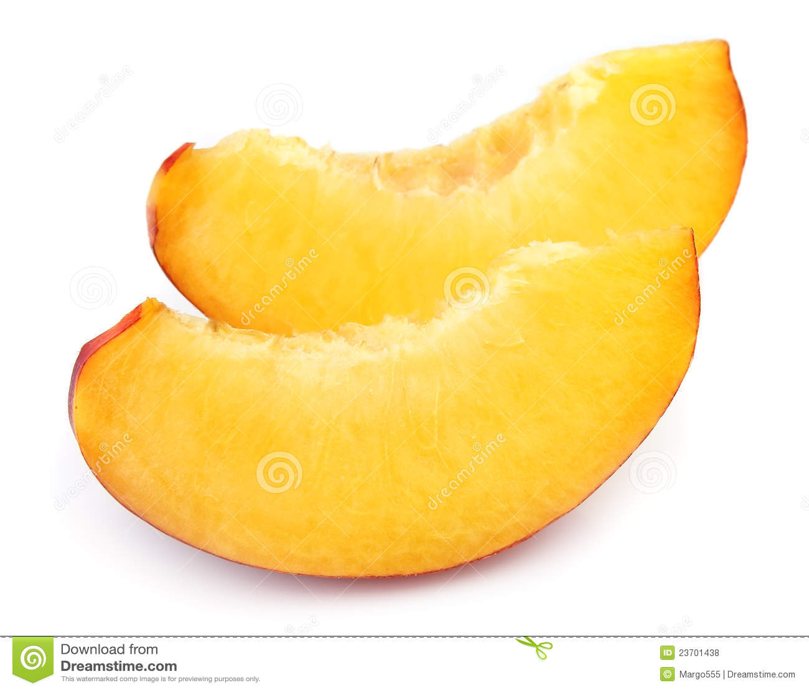 Juicy Peach Slices Royalty Free Stock Photos - Image: 23701438