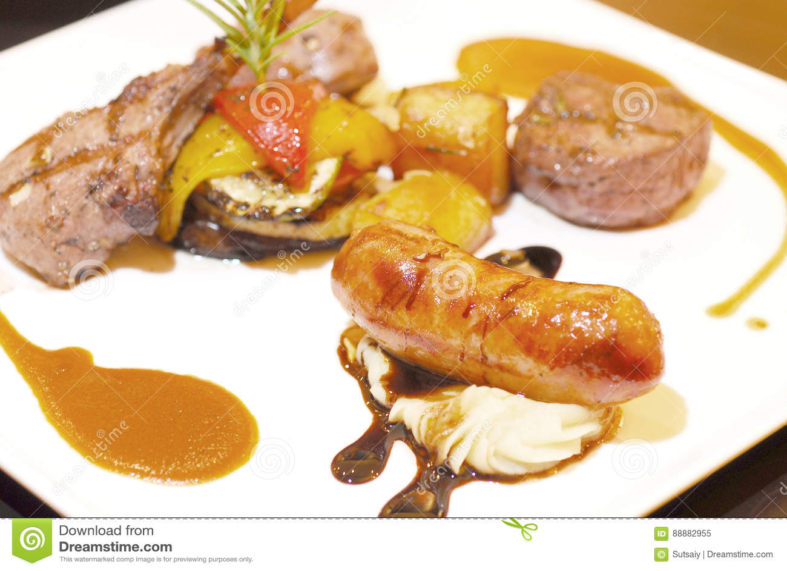 Juicy sausages