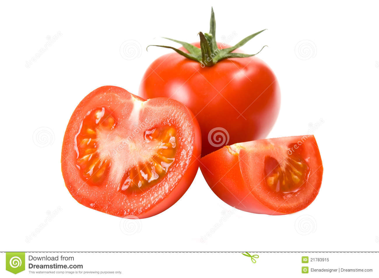 Juicy tomatoes fully isolated
