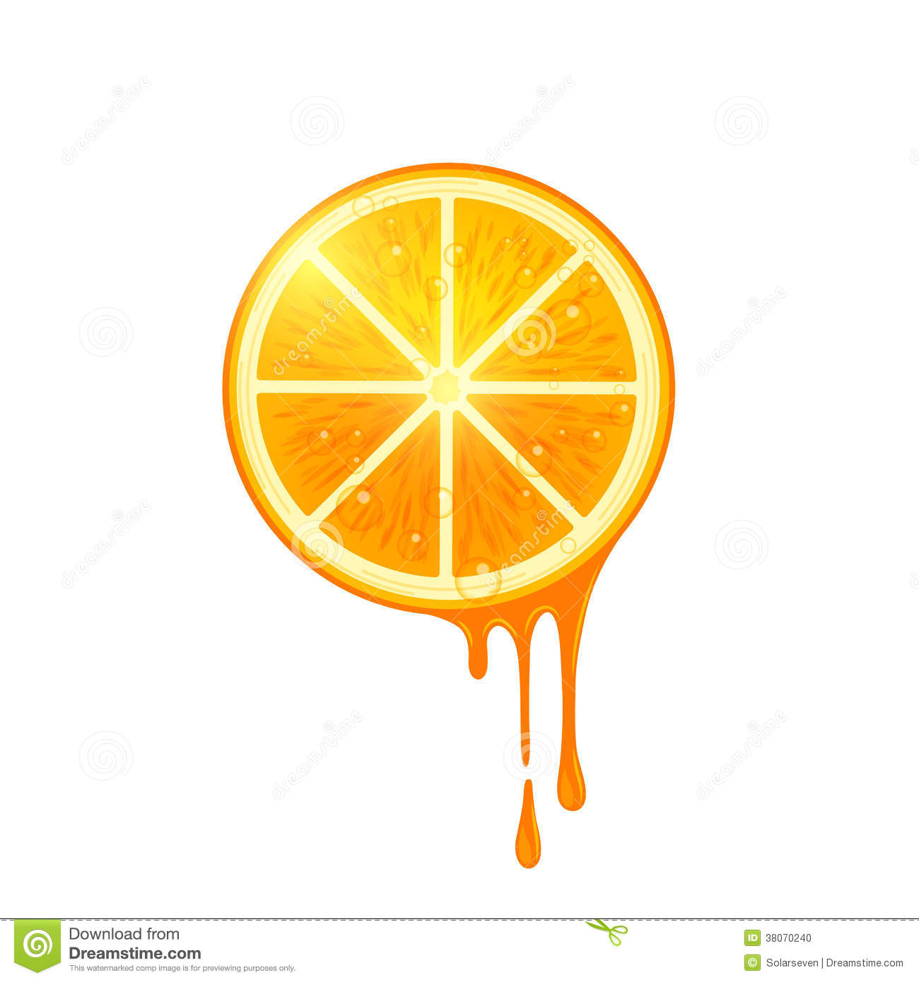 Juicy Vector Orange Slice stock vector  Illustration of pure