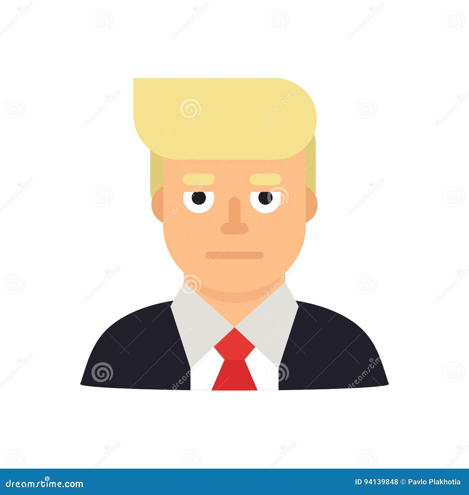 10 juin 2017 Illustration moderne de vecteur d un portrait d homme d affaires et de candidat présidentiel Donald Trump