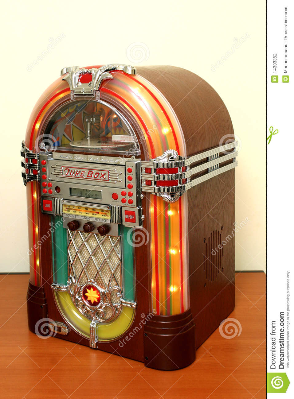 Jukebox Stock Photography - Image: 14303352