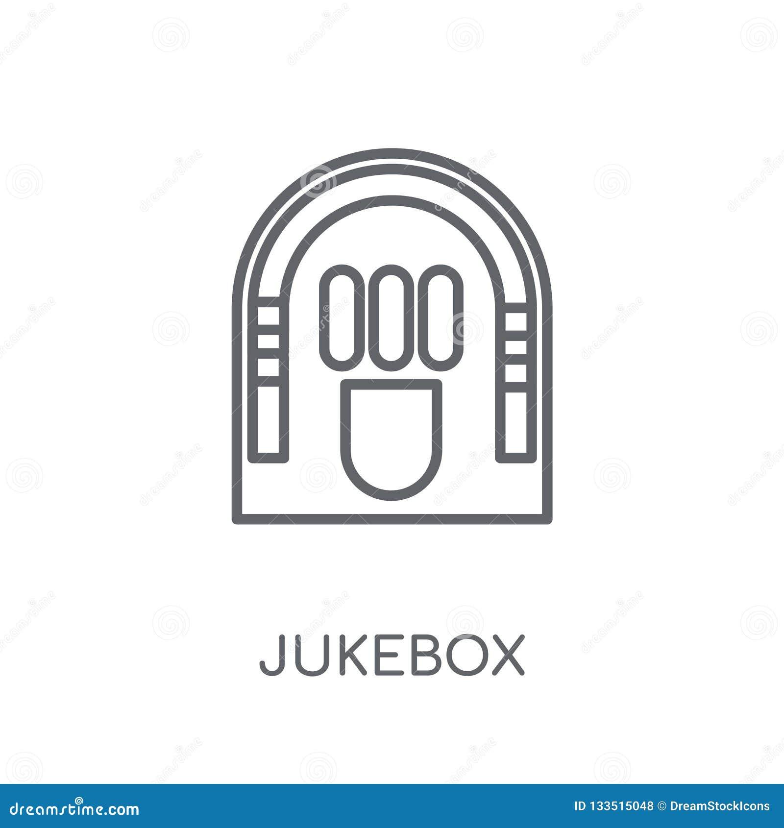 Jukebox linear icon. Modern outline Jukebox logo concept on whit