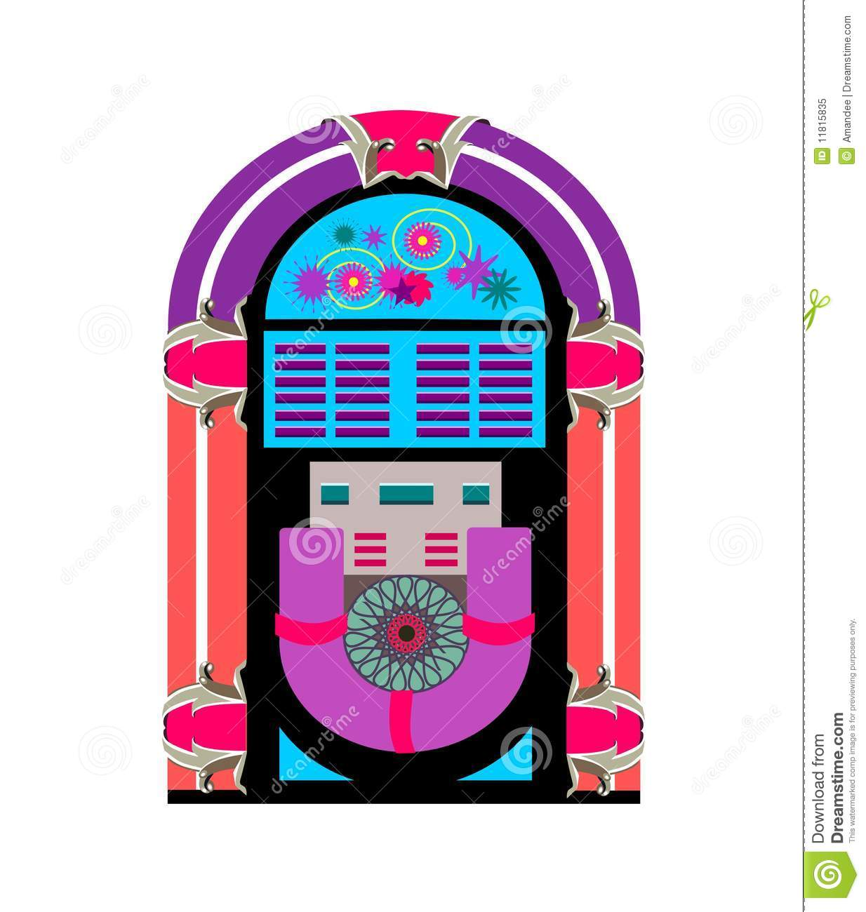 Line Art Jukebox : Jukebox music player royalty free stock photo image