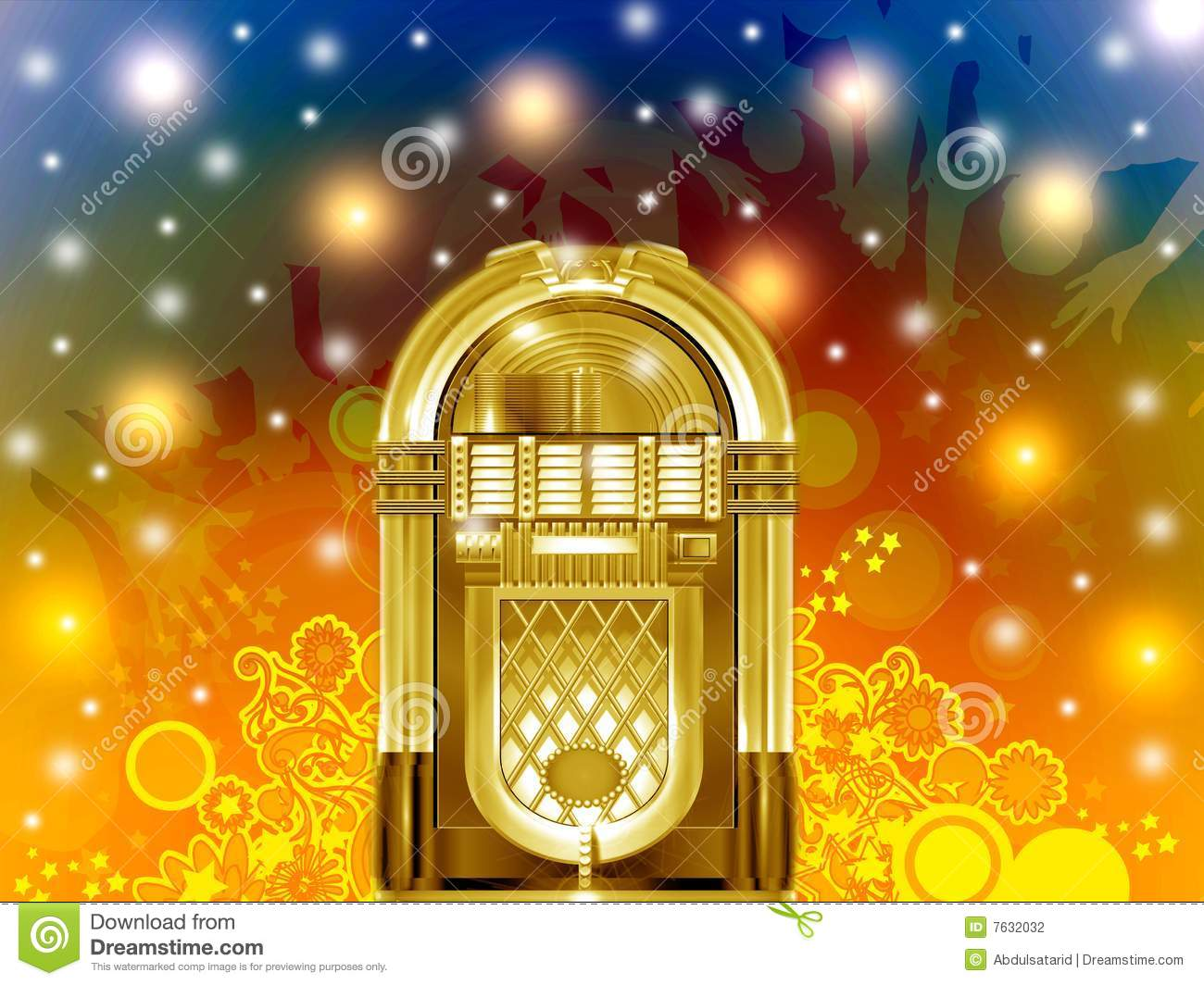 Jukebox Party Stock Photography - Image: 7632032