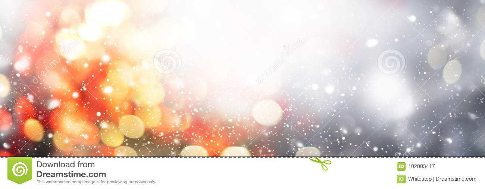 Jul gör sammandrag Defocused fläckljus för bakgrund