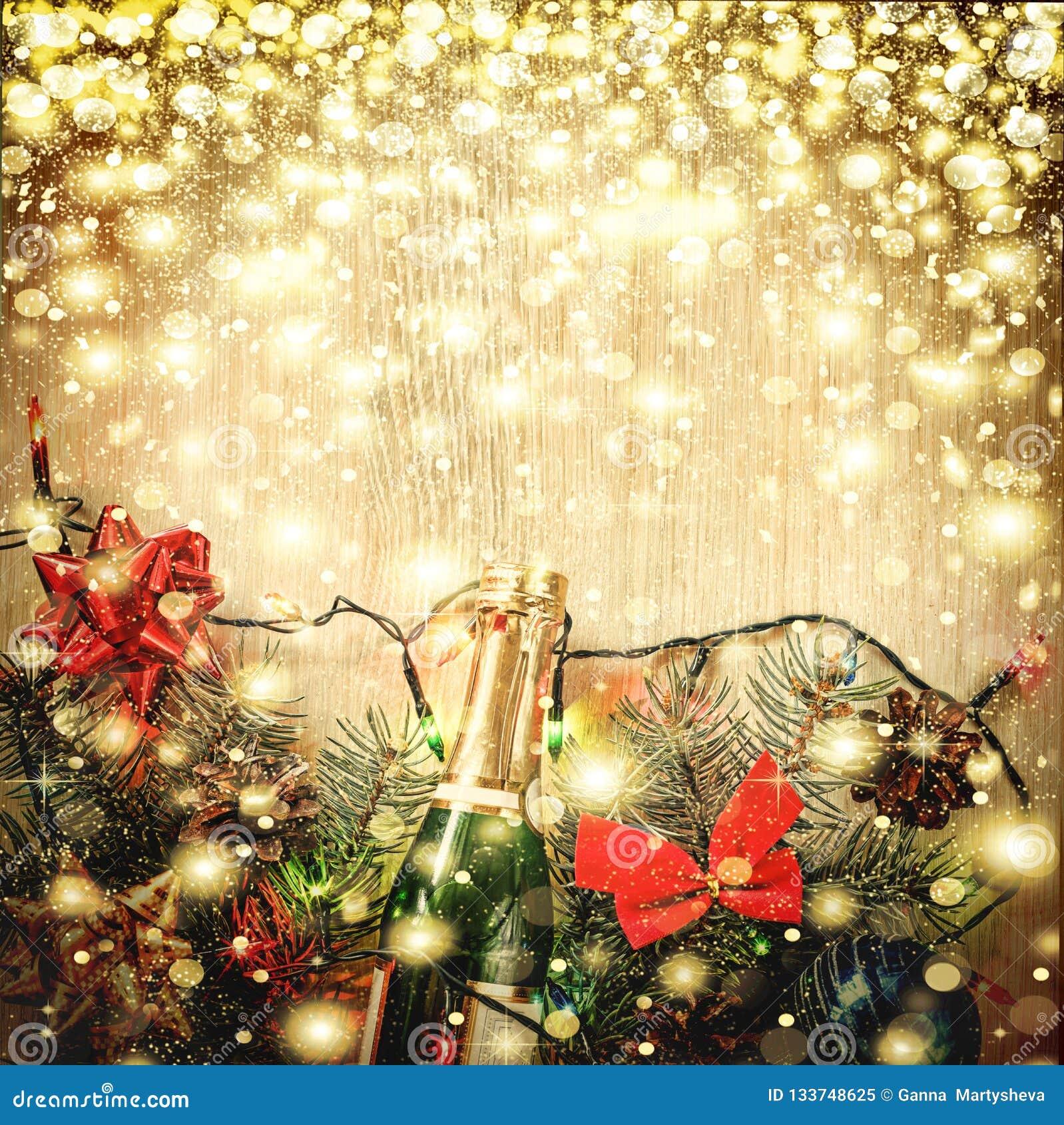 Jul garnering, bakgrund, ferie, nytt år