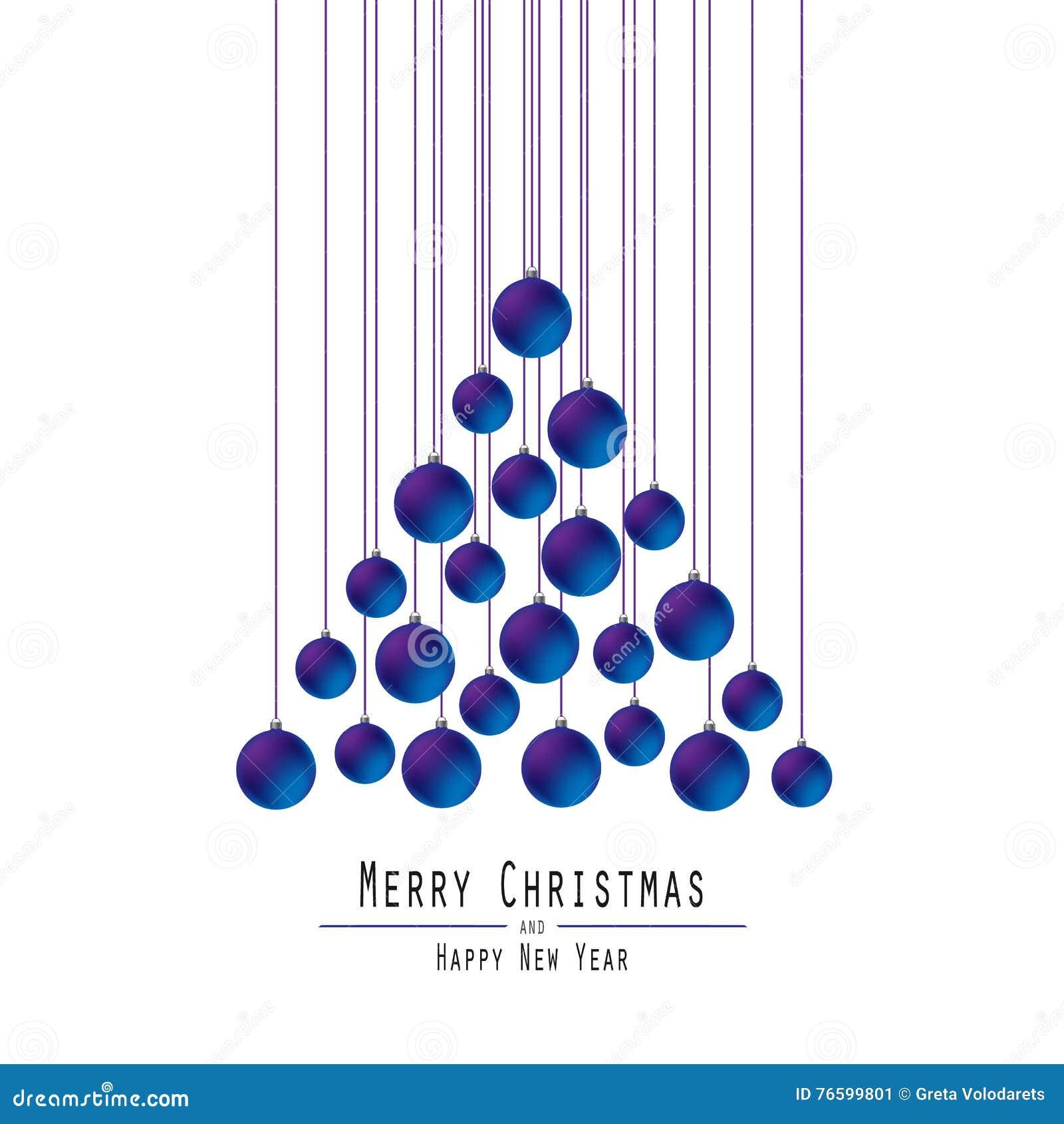 Jul min version för portföljtreevektor Räcka bollar _