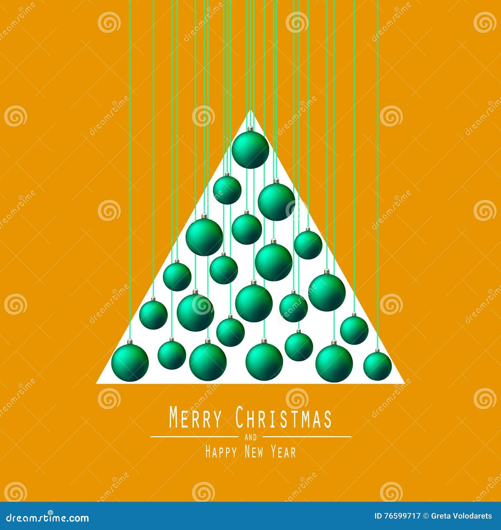 Jul min version för portföljtreevektor Räcka bollar Gräsplan