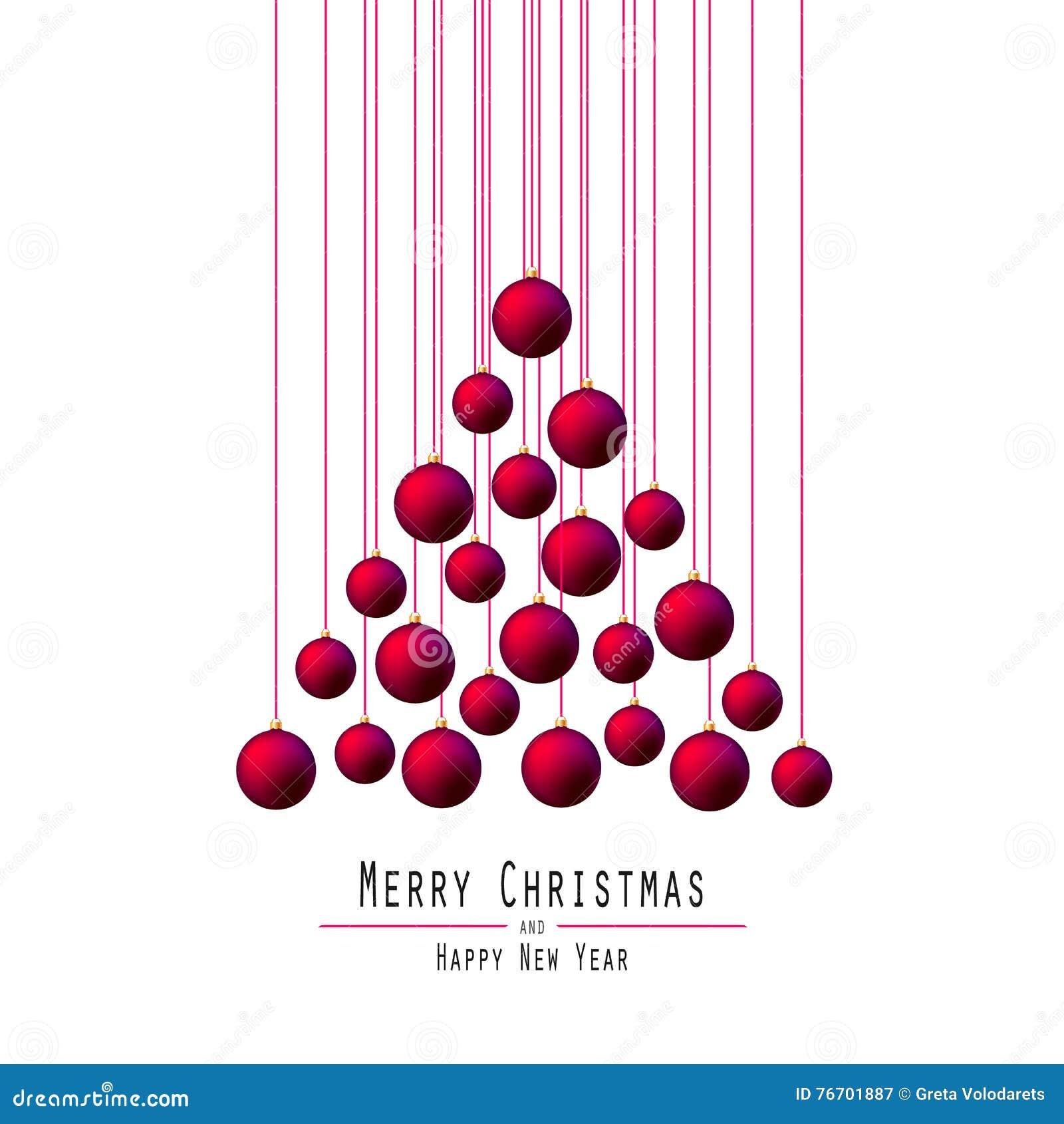 Jul min version för portföljtreevektor Räcka bollar Rött