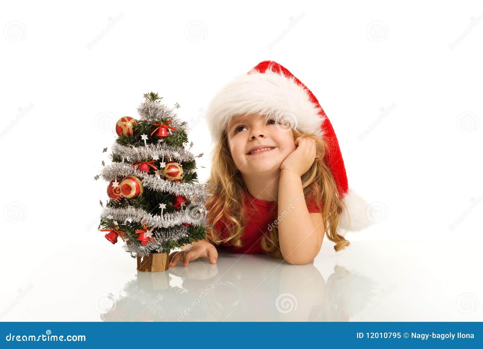 Jul som drömm flickan little