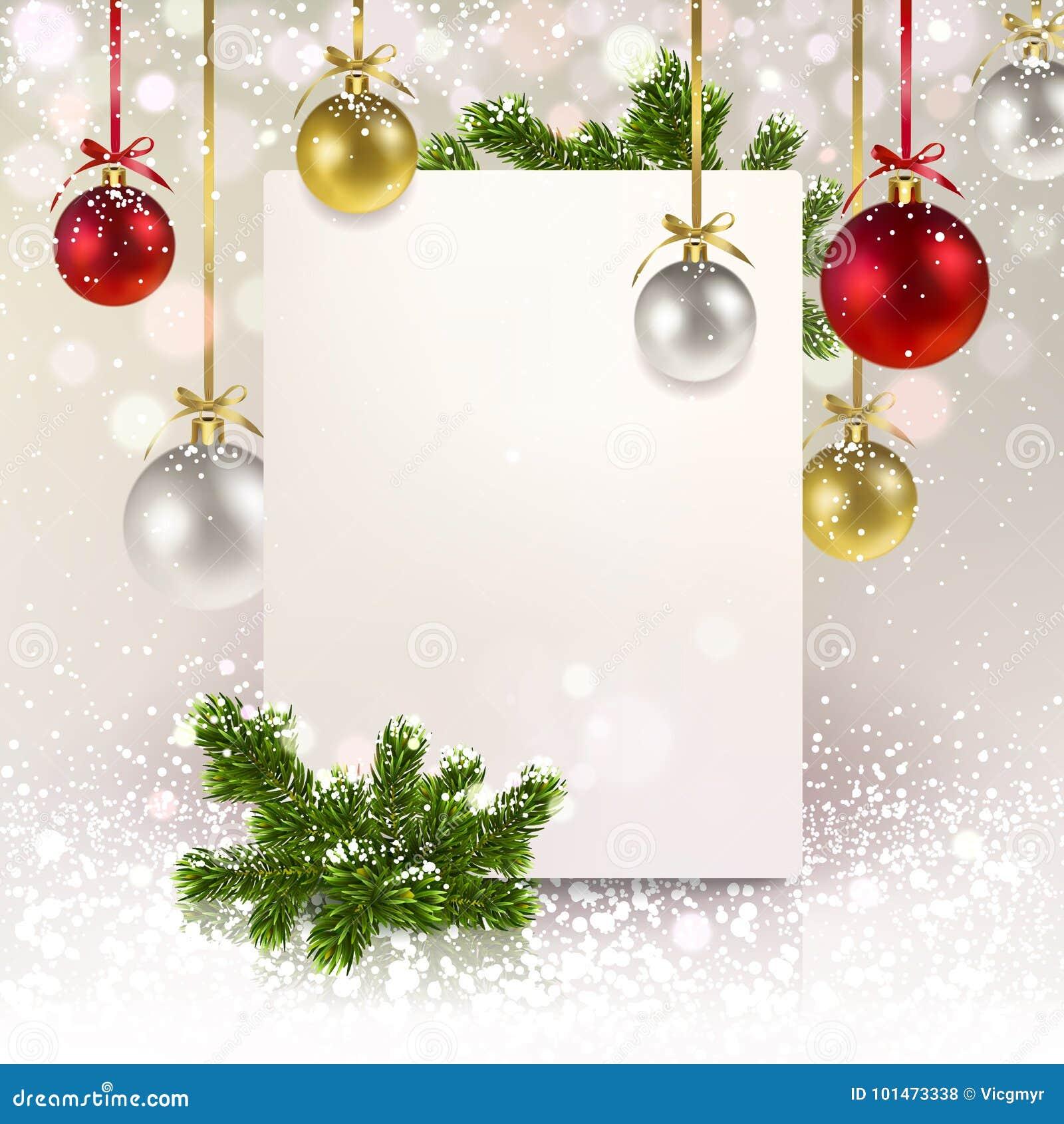 Jul som hälsar banret med julbollar och en prydlig kli