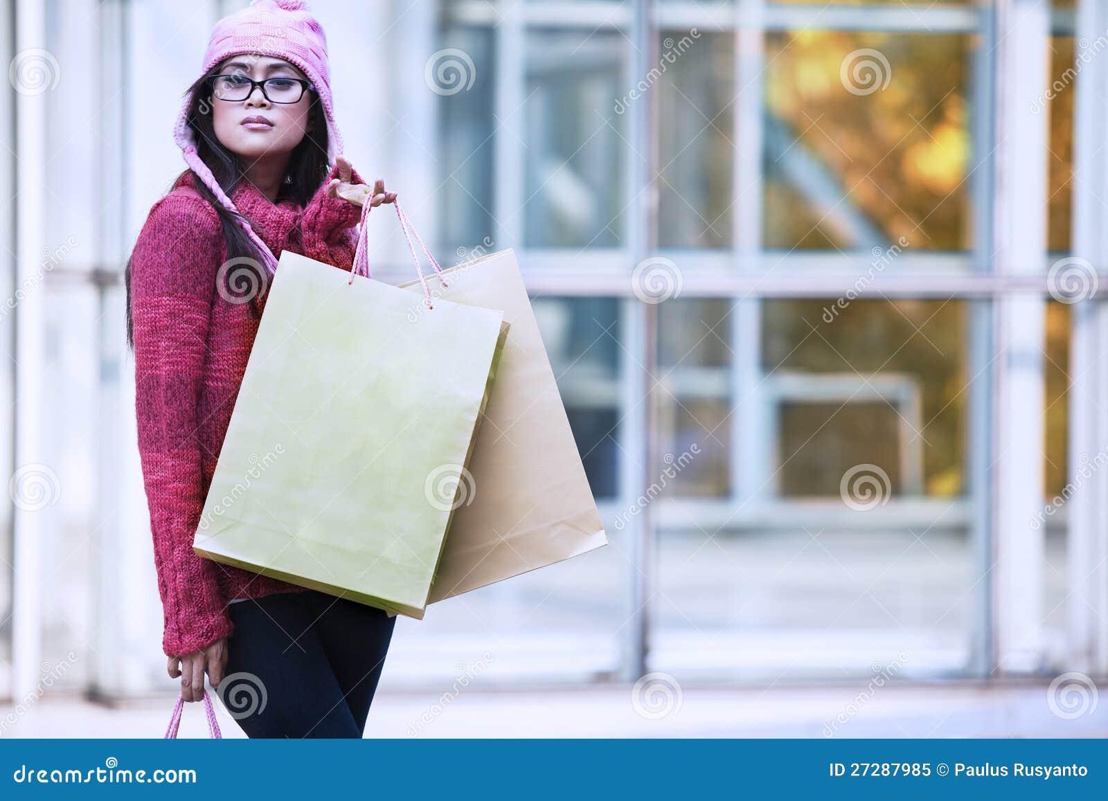 Jul som shoppar i vinter