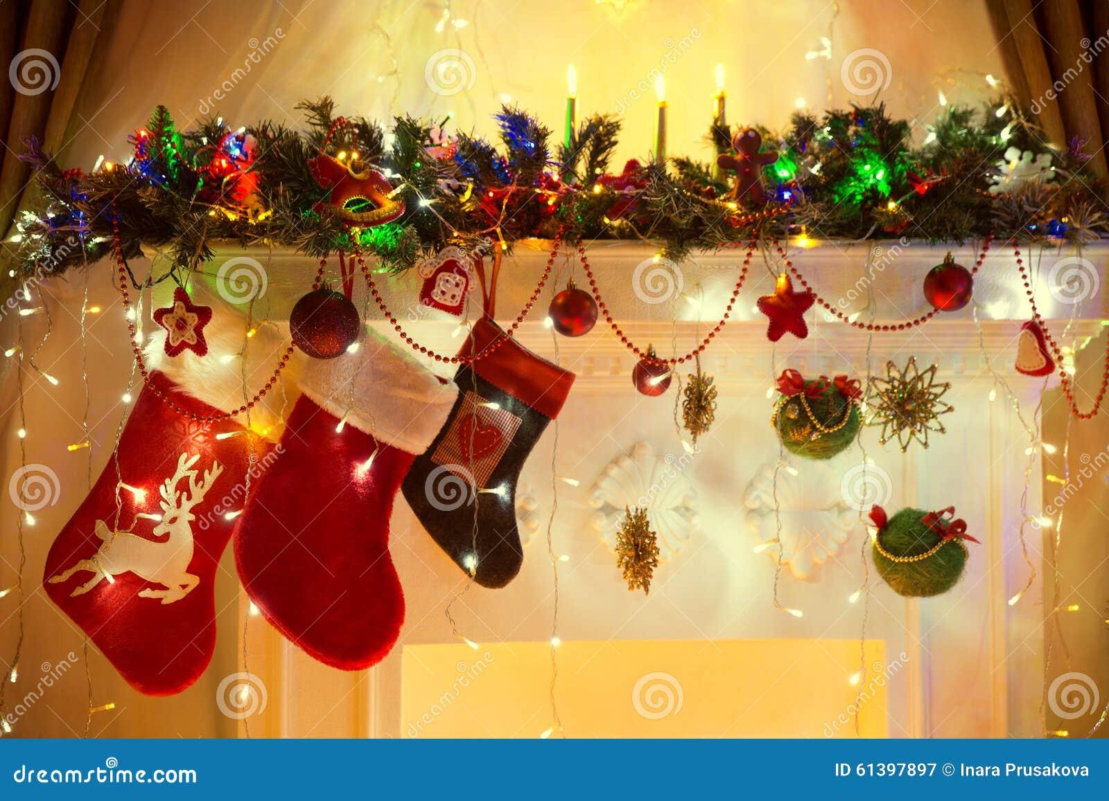Jul spisen, hängande sockor för familjen, Xmas tänder Decoratio
