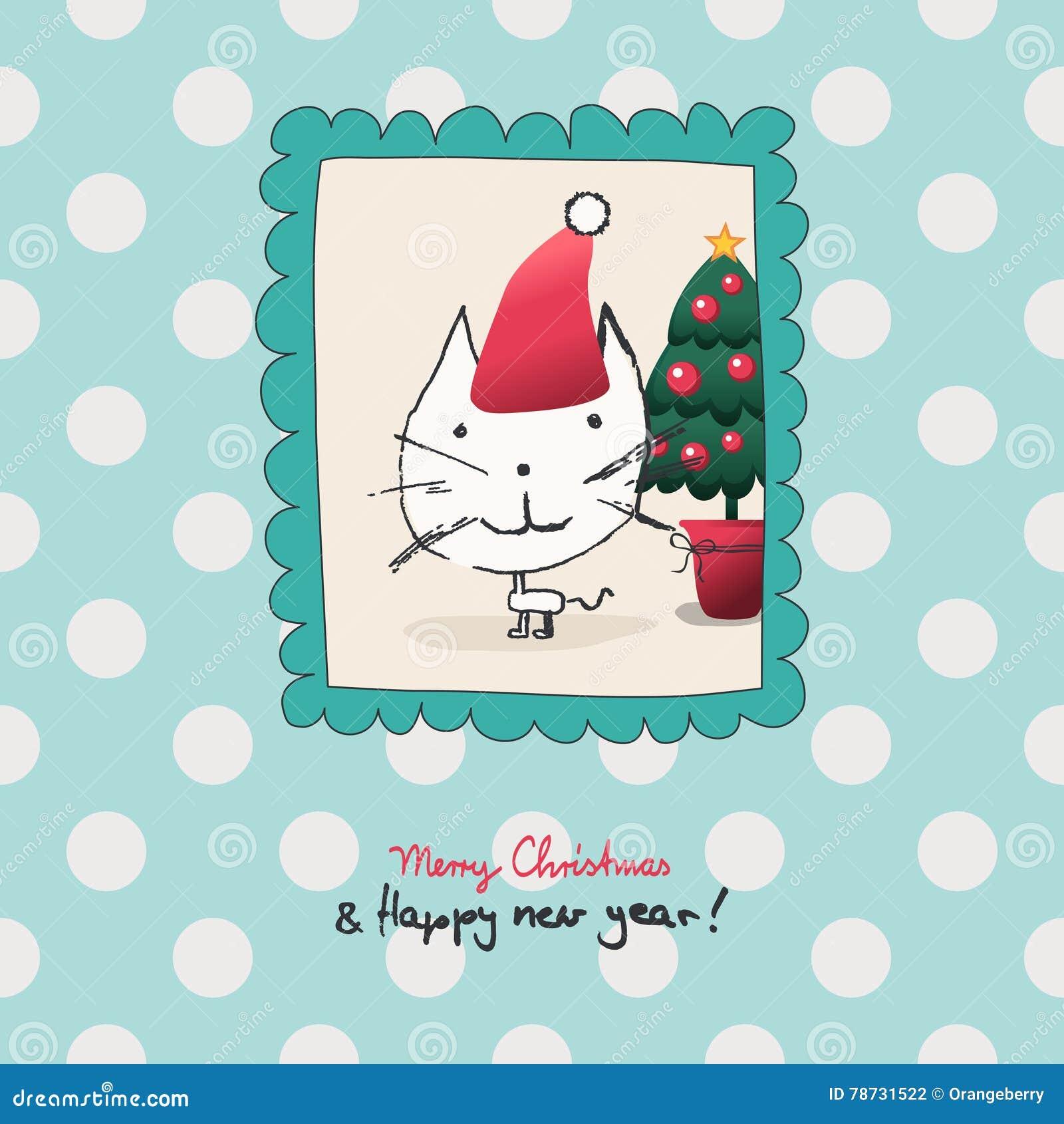 Jul tajmar med en katt