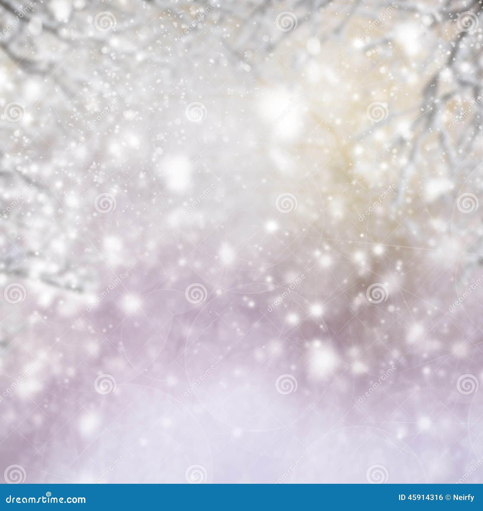 Julbakgrund med trädet och att glimma för gran