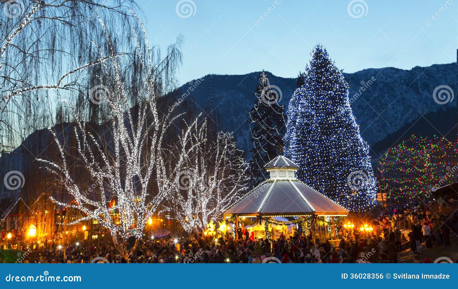 Julbelysning i Leavenworth