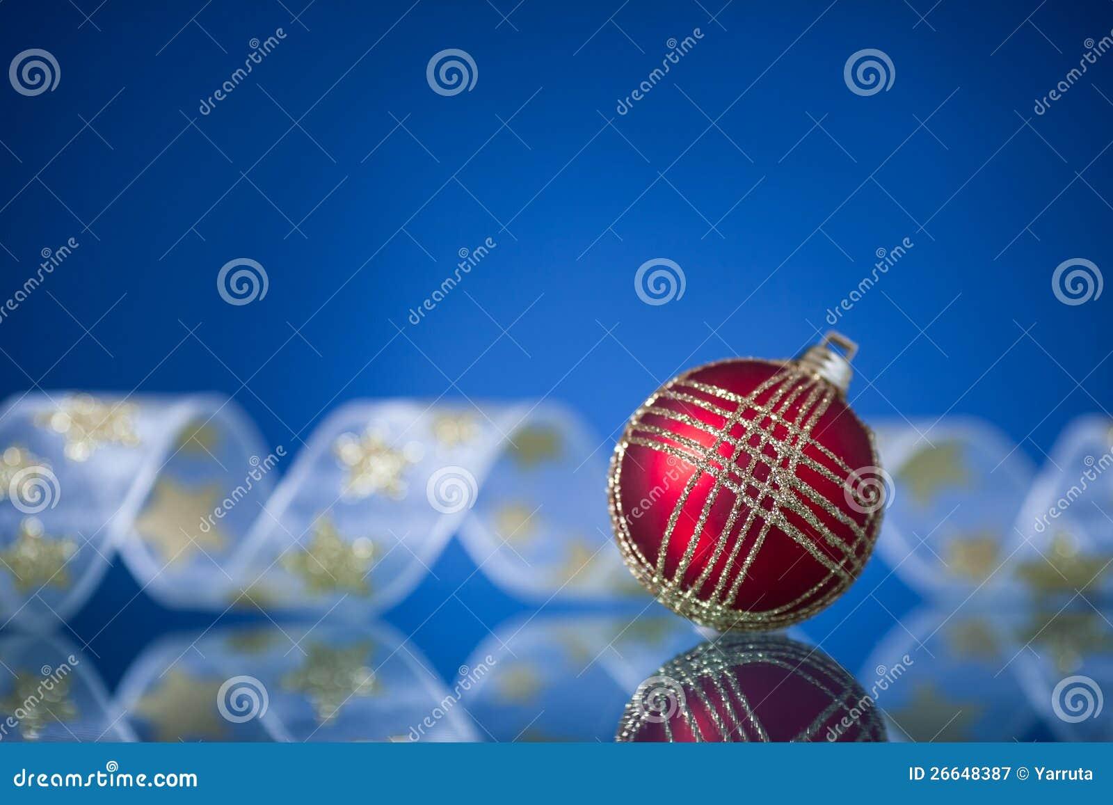 Julboll på blue