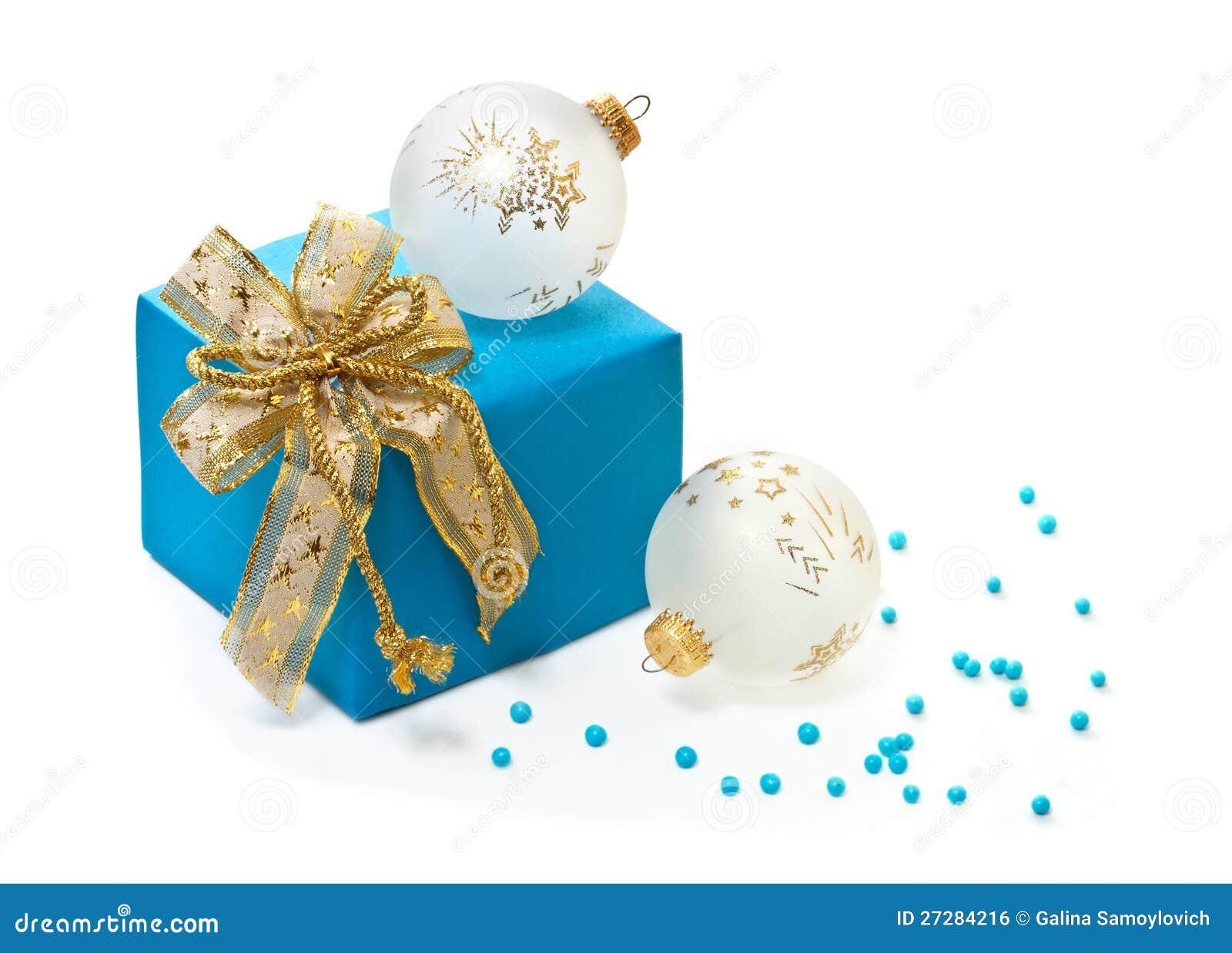 Julbollar och gåva