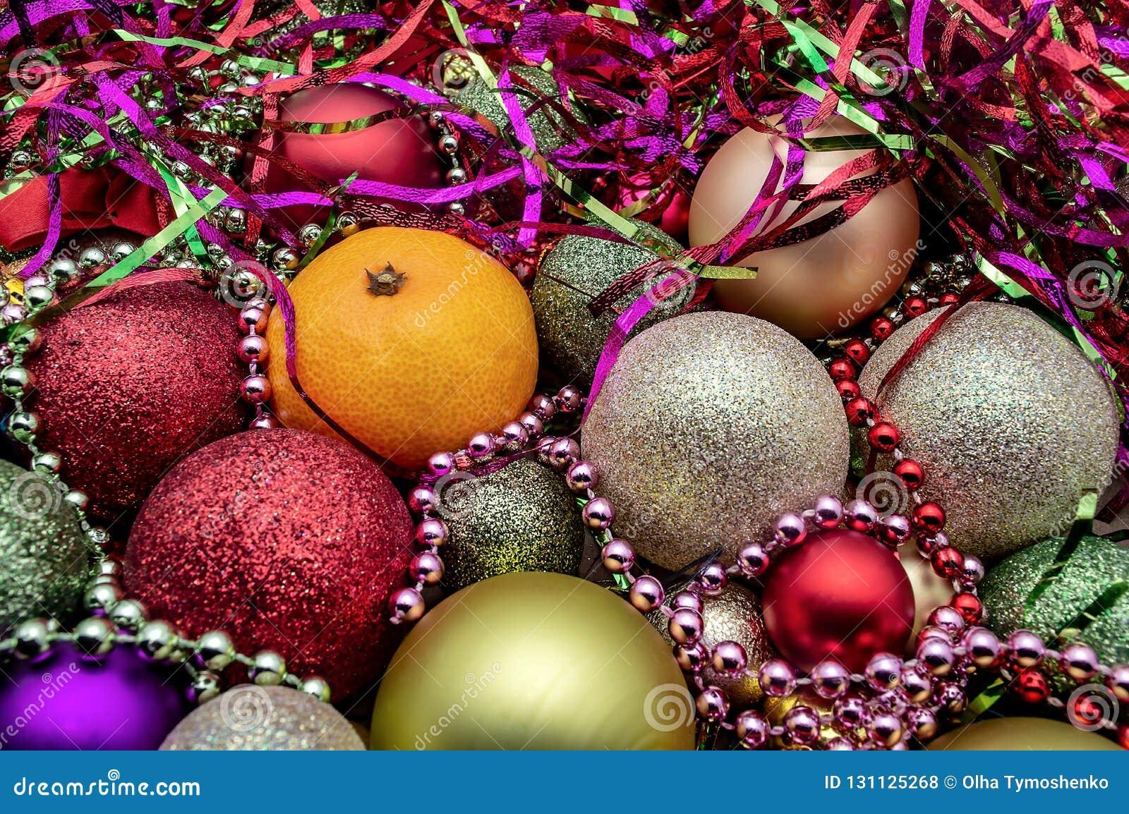 Julbollen smyckar nytt år för julferiedekor