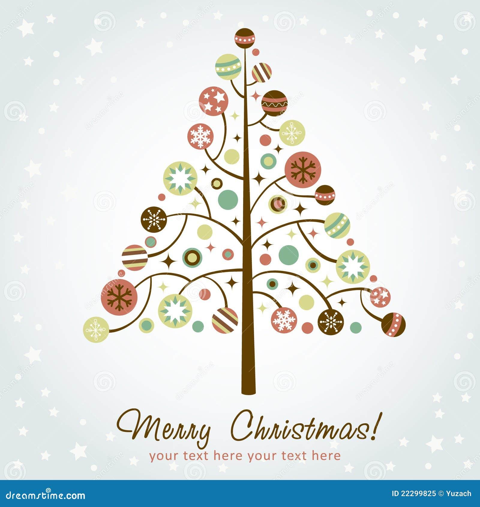 Julen planlägger den stylized treen