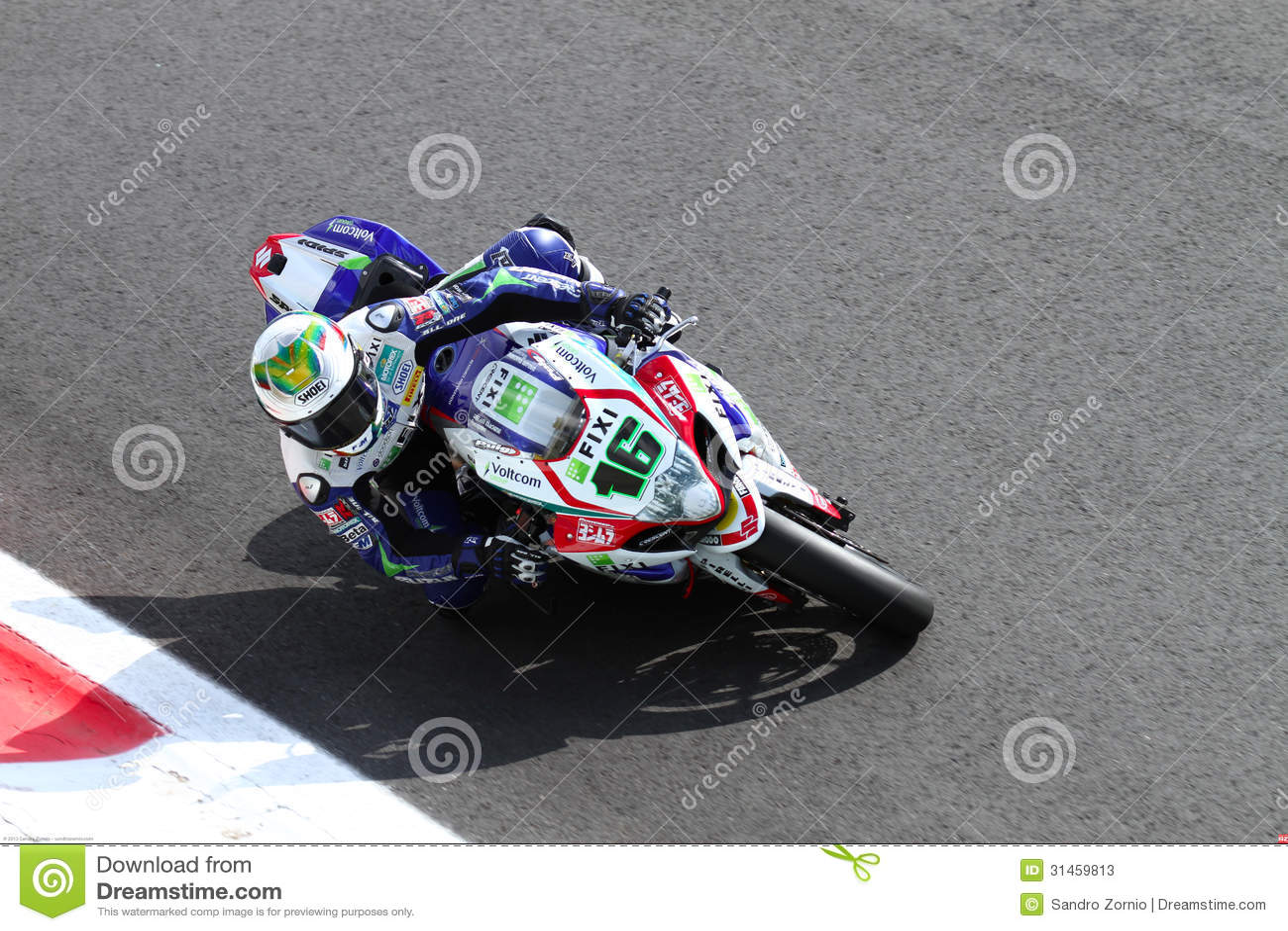 Jules Cluzel #16 on Suzuki GSX-R1000 with Fixi Crescent Suzuki Team Superbike WSBKSuperbike WSBK
