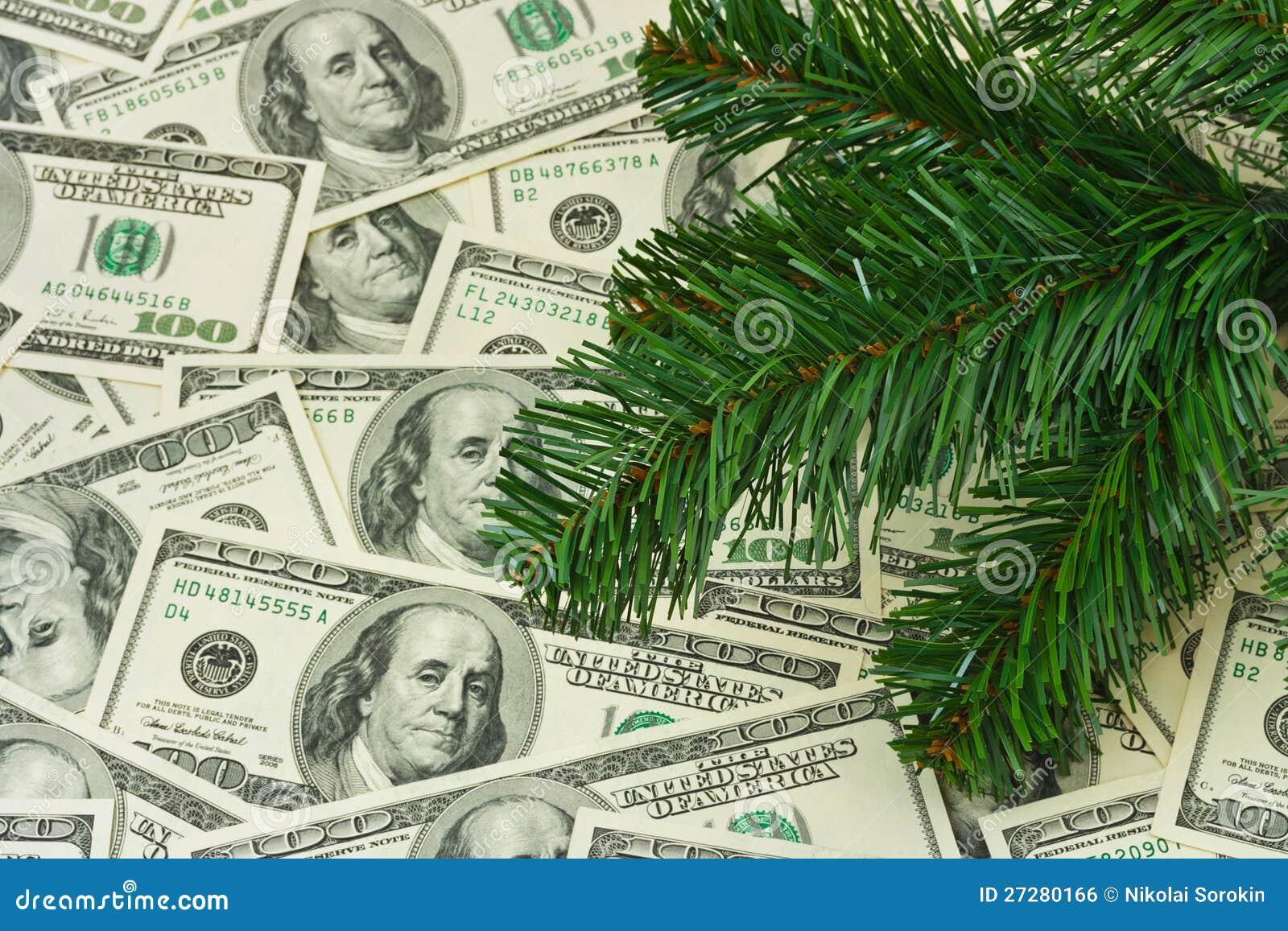 Julgran och pengar