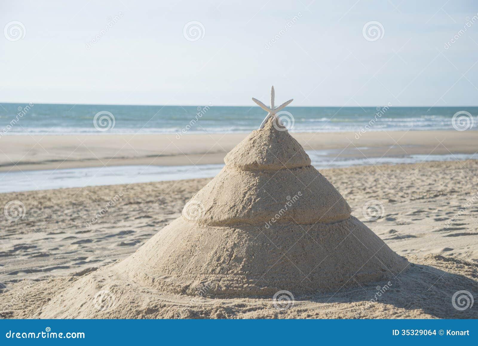 Julgran på stranden