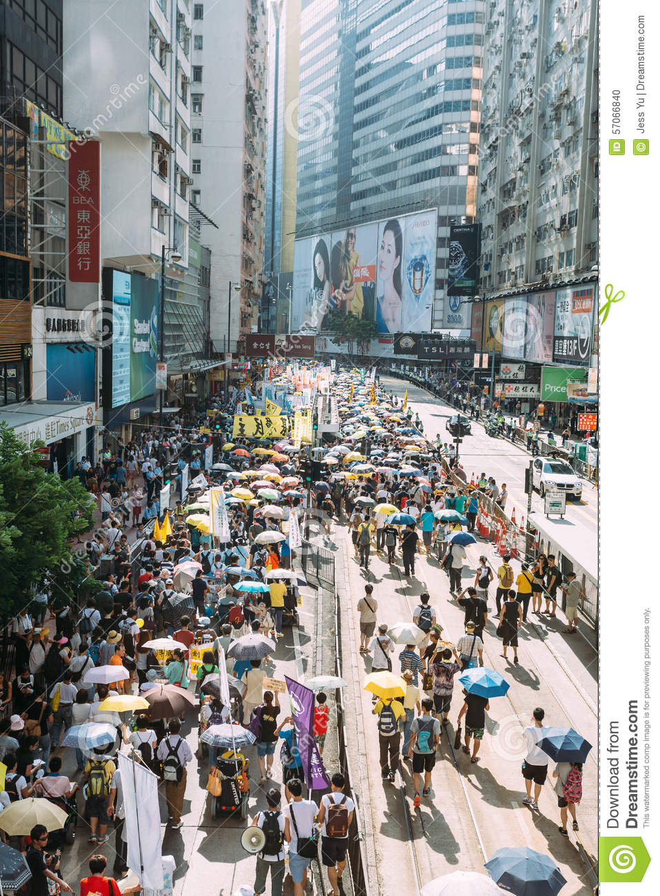 1 Juli-protest in Hong Kong