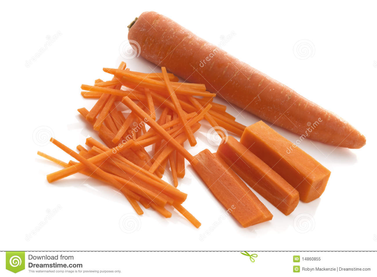 how to cut korean carrots