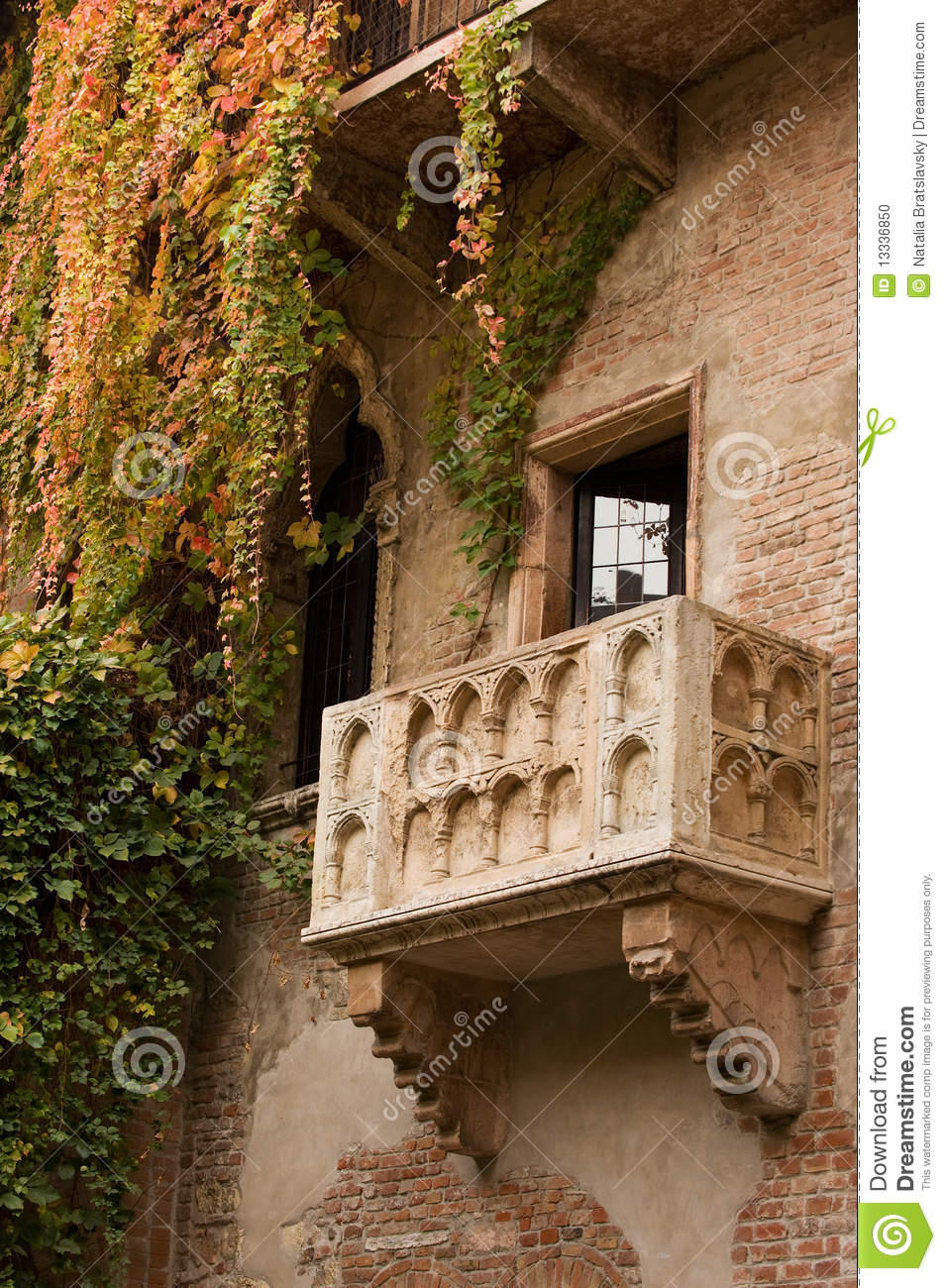 Juliets Balcony Stock Photo Image Of Verona Romantic