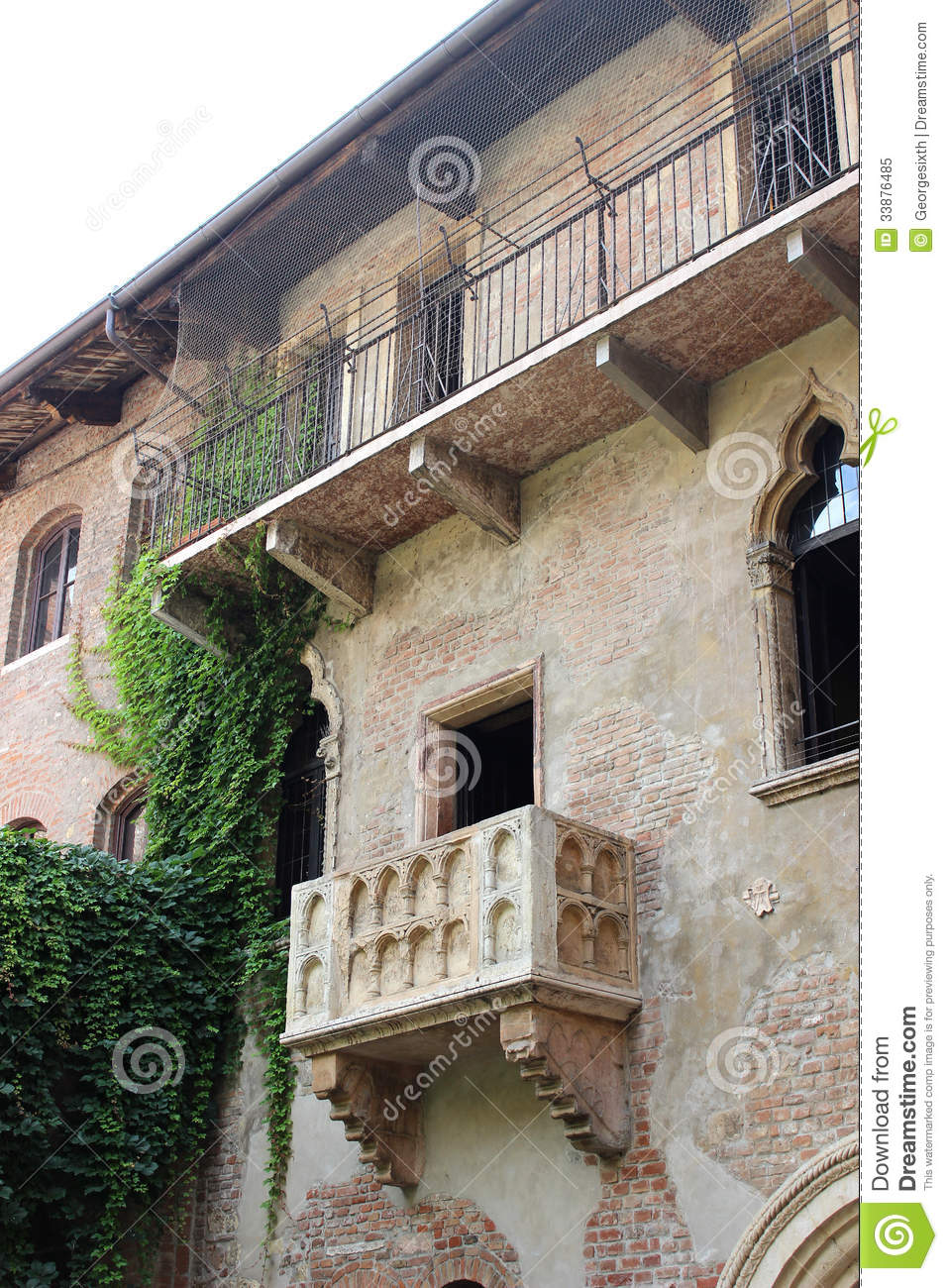 Juliets Balcony In Verona Italy Stock Image Image Of