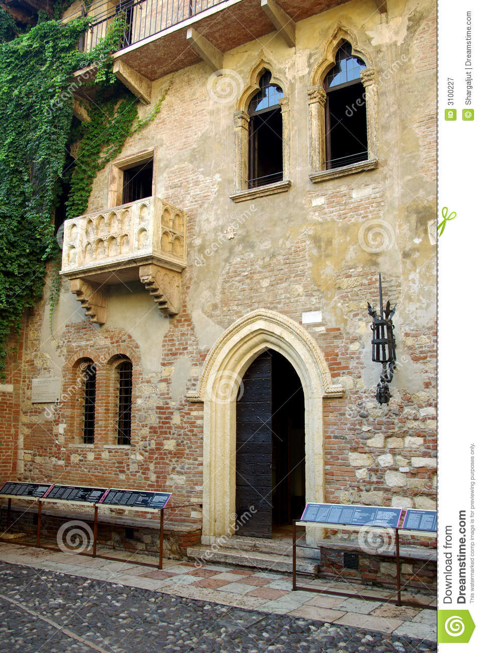 Juliets House Verona Italy Royalty Free Stock