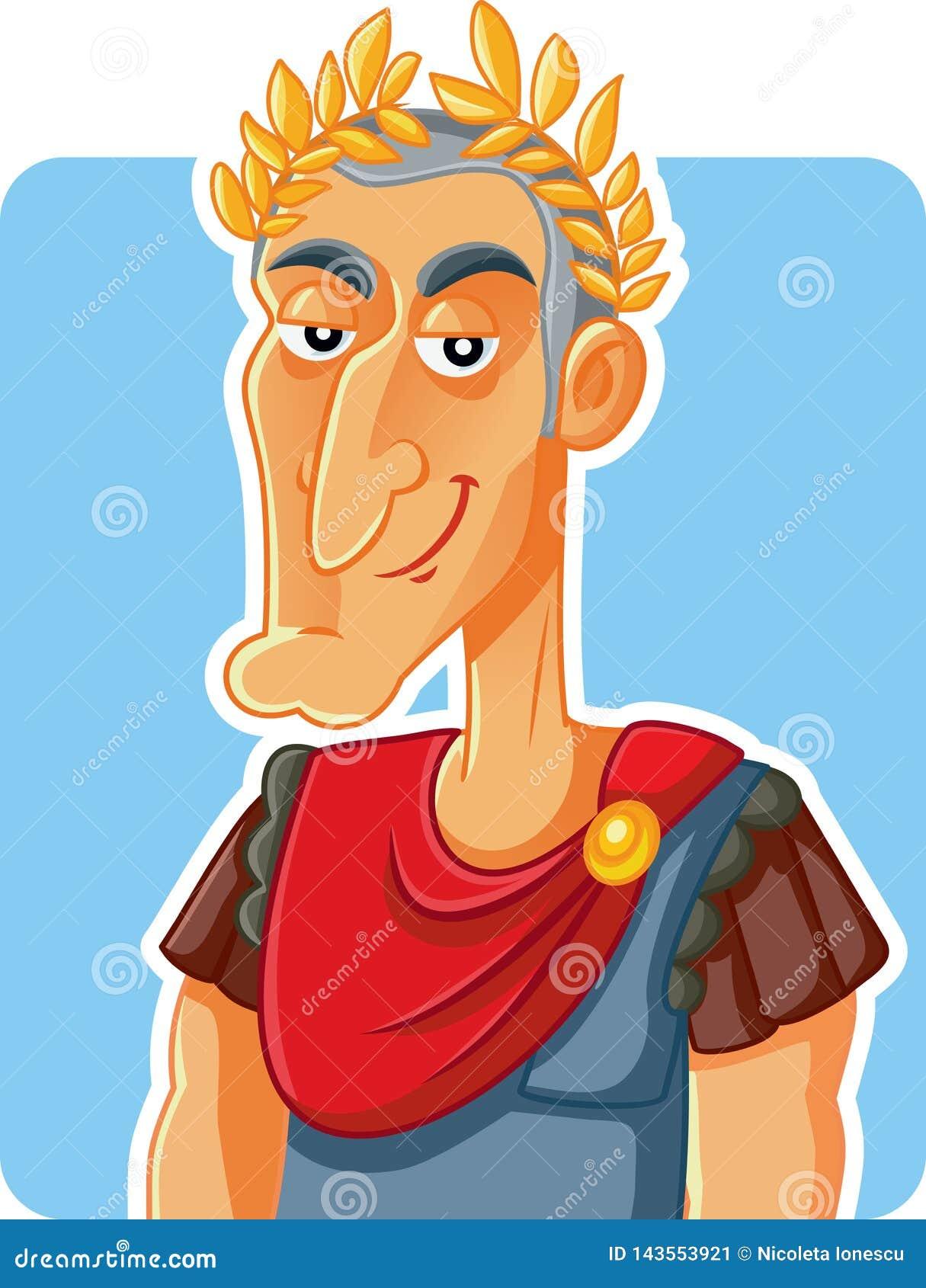 Julius Caesar Roman Emperor Vetora Caricature