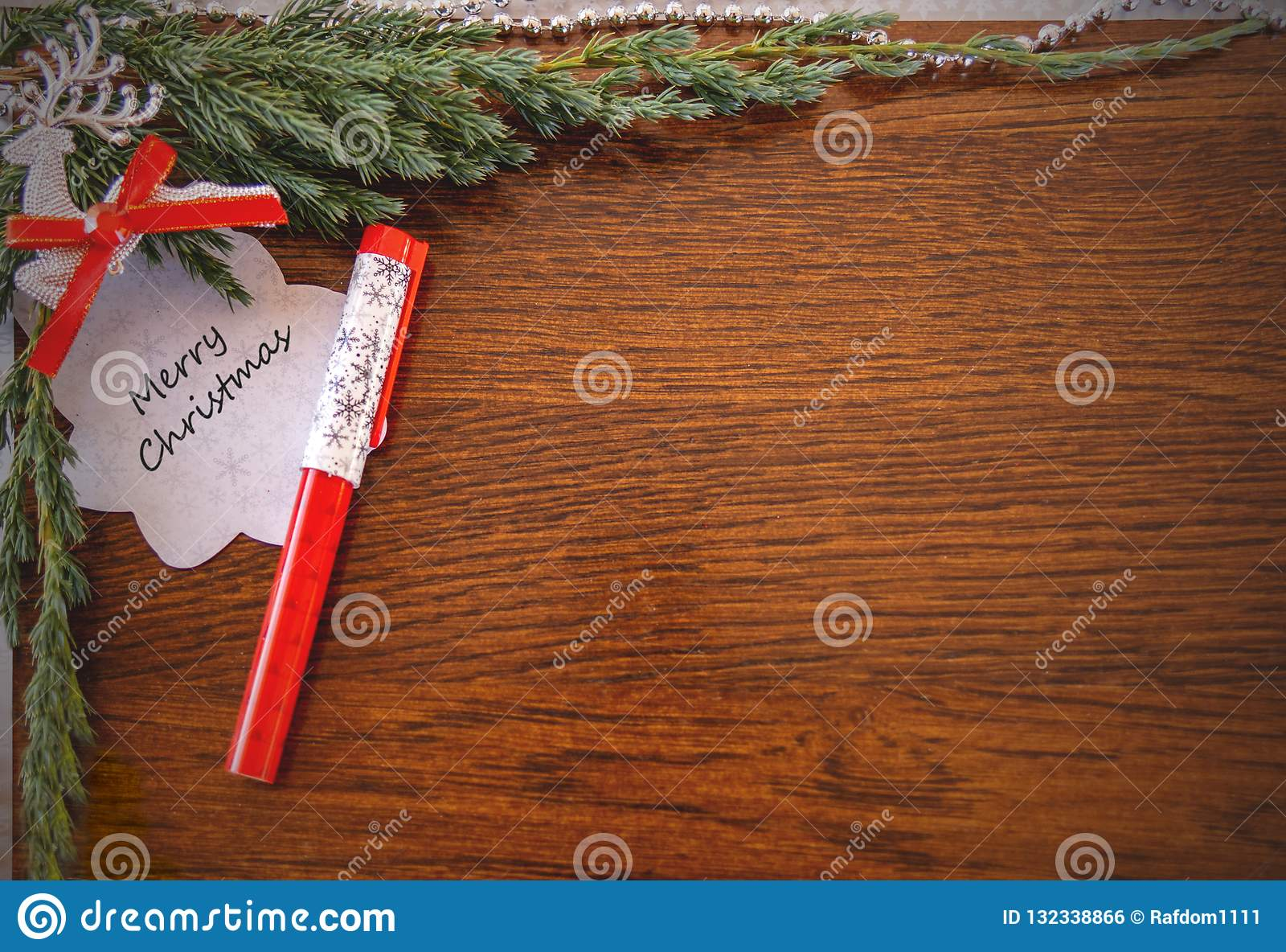 Julkort med orden: Glad jul