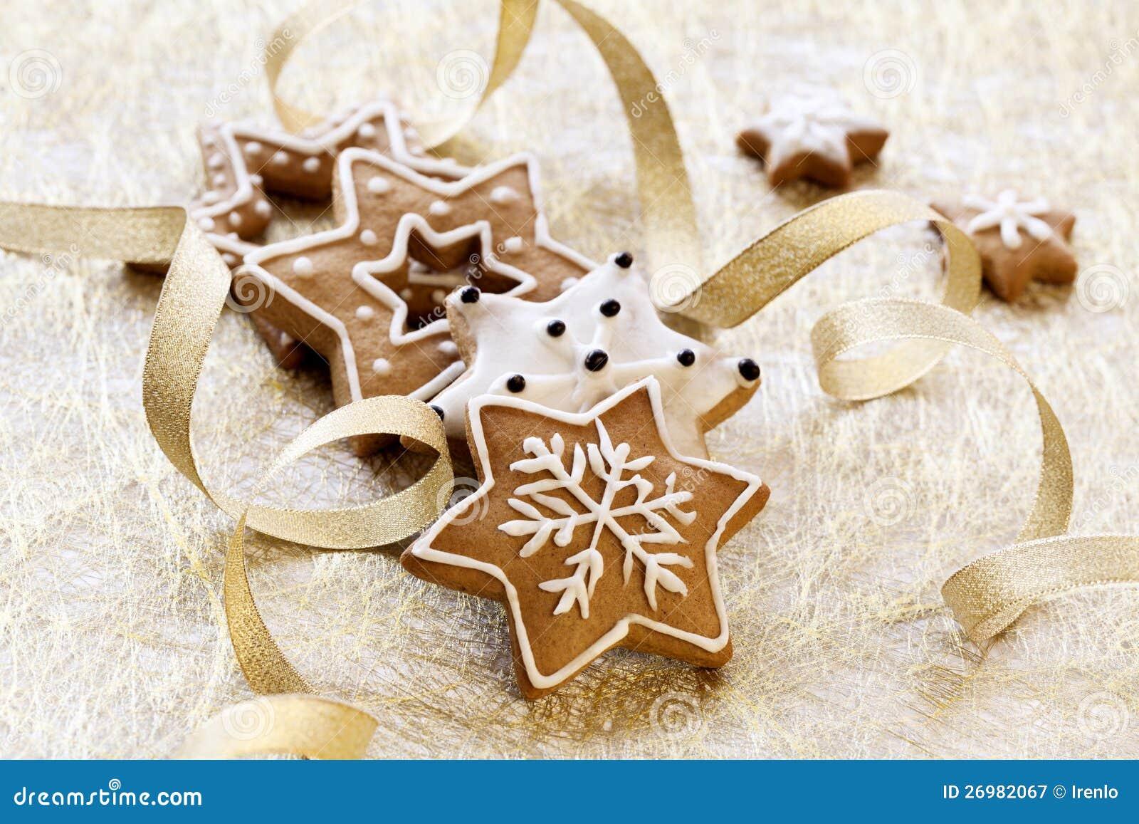 Julkortbakgrund med ljust rödbrun kakor